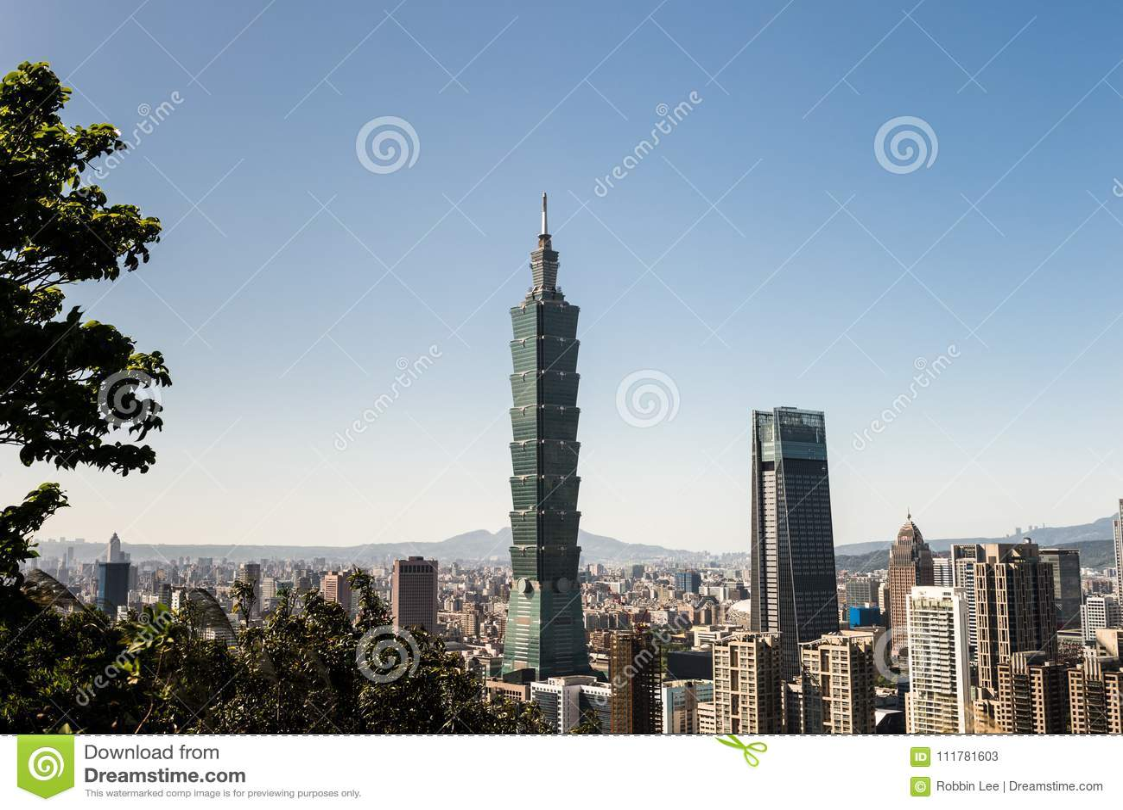 View of Taipei 101 world trade center building