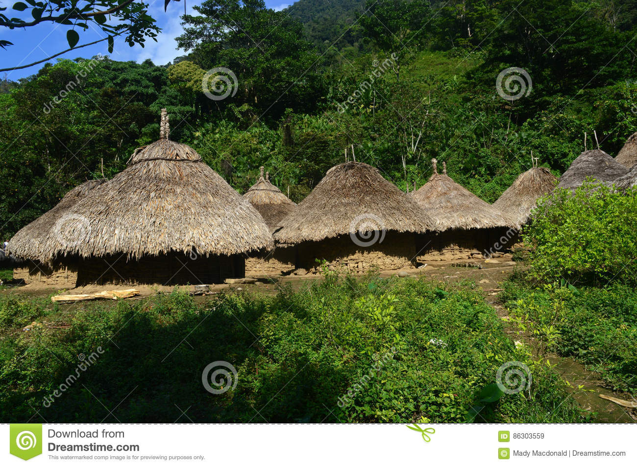 Tairona huts on the trail to the Lost City