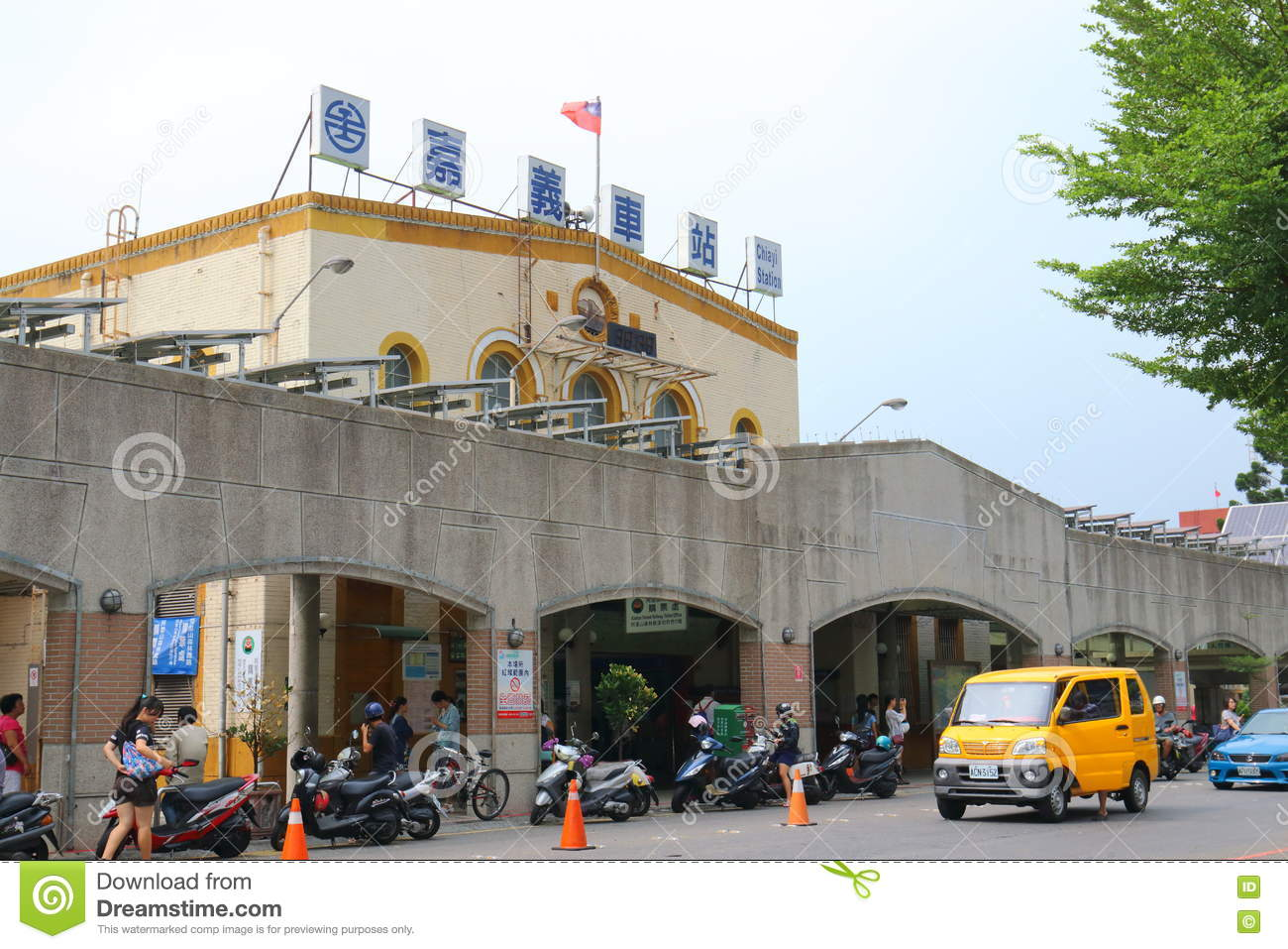 Taiwan : Chiayi Station editorial photo  Image of travel