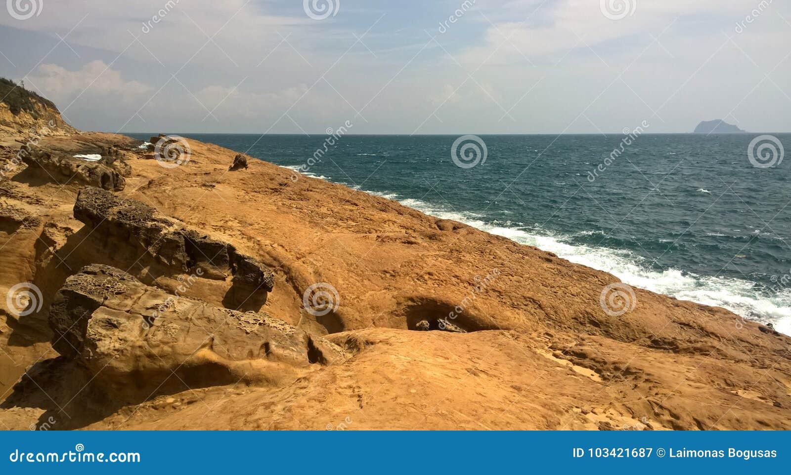 Taiwan. Rocks on the beach