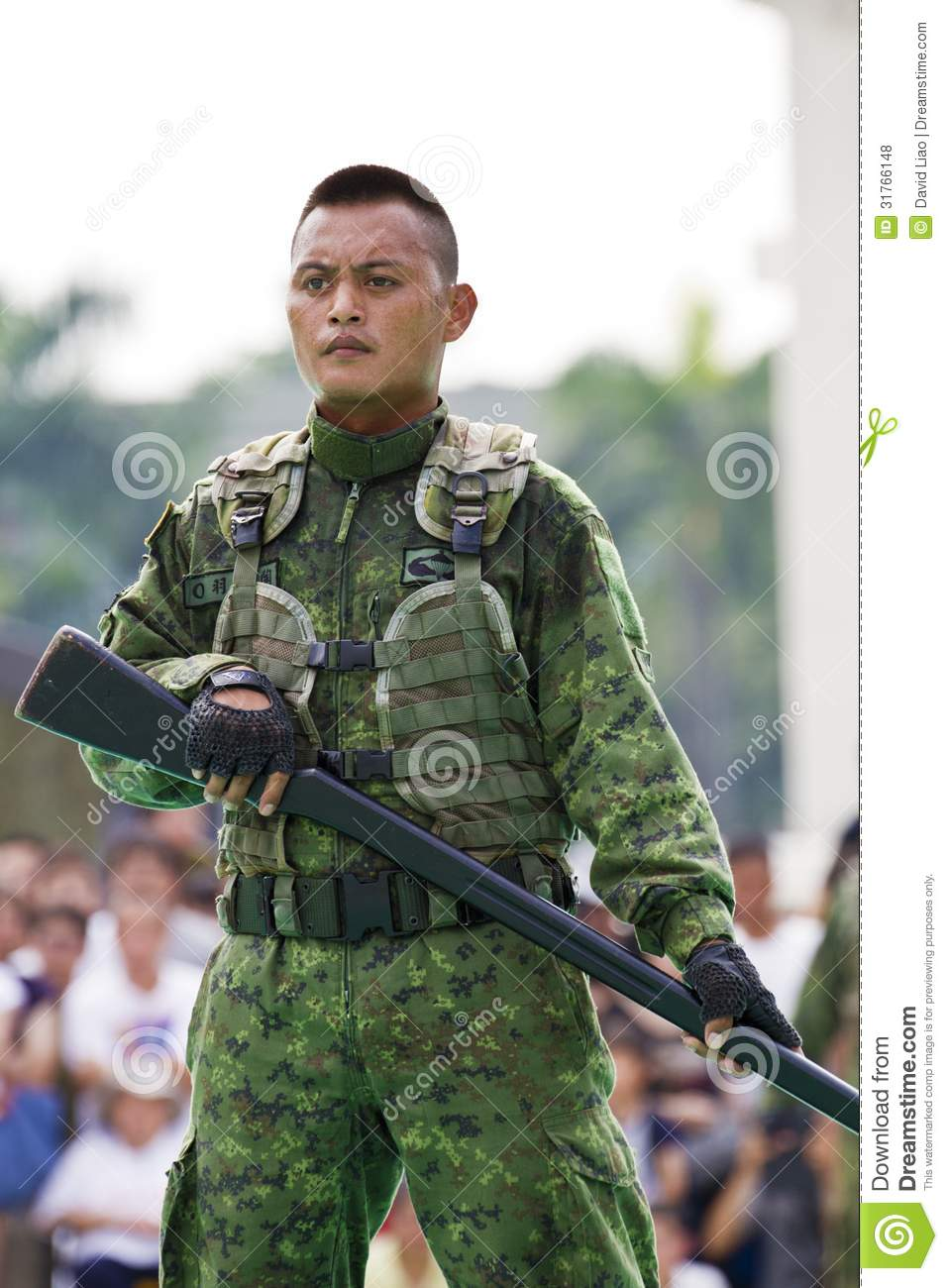 Taiwan Special Forces Military Exhibition Editorial Stock