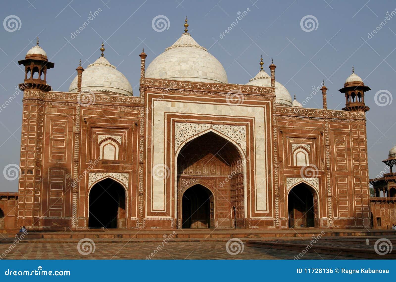 Taj мечети masjid Индии входа mahal к