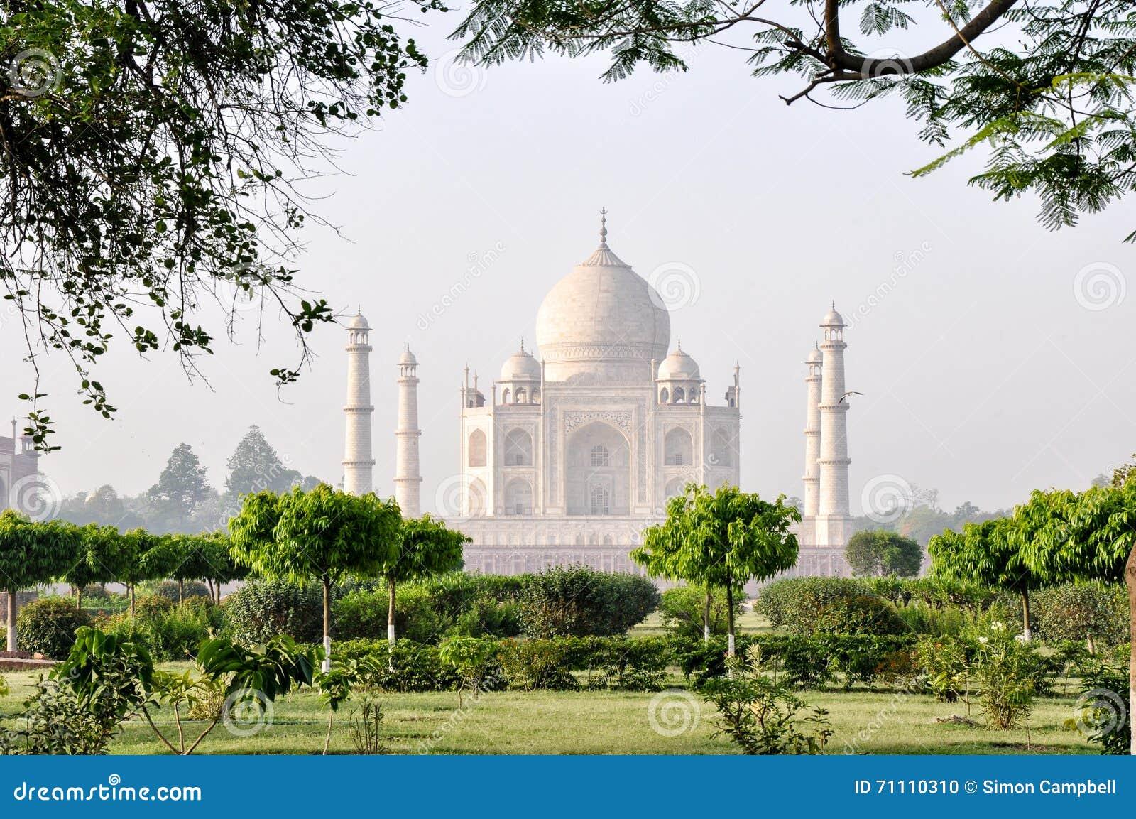 Taj Mahal, από τους κήπους φεγγαριών, Agra Ινδία