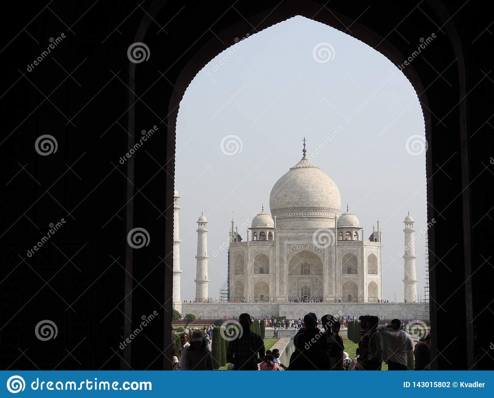 Taj Mahal, Agra, Índia, arco na entrada ao mausoléu
