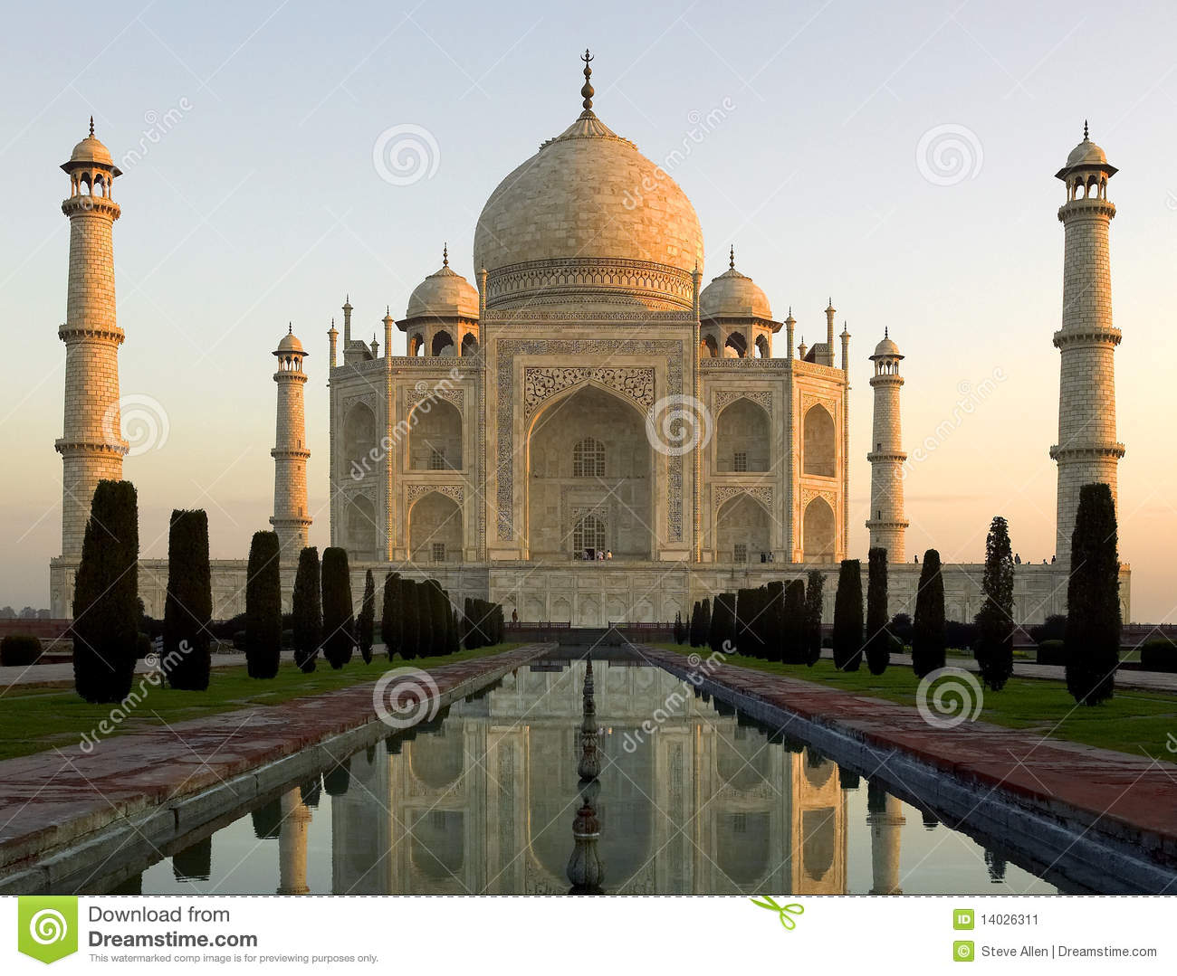 Download Taj Mahal - Agra - India stock image. Image of dawn, heritage - 14026311