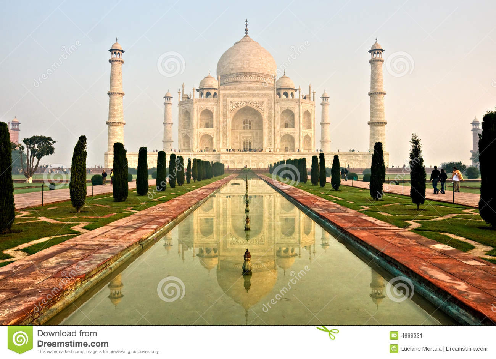 Taj mahal, Agra, India. stock image. Image of palace, mausoleum ...