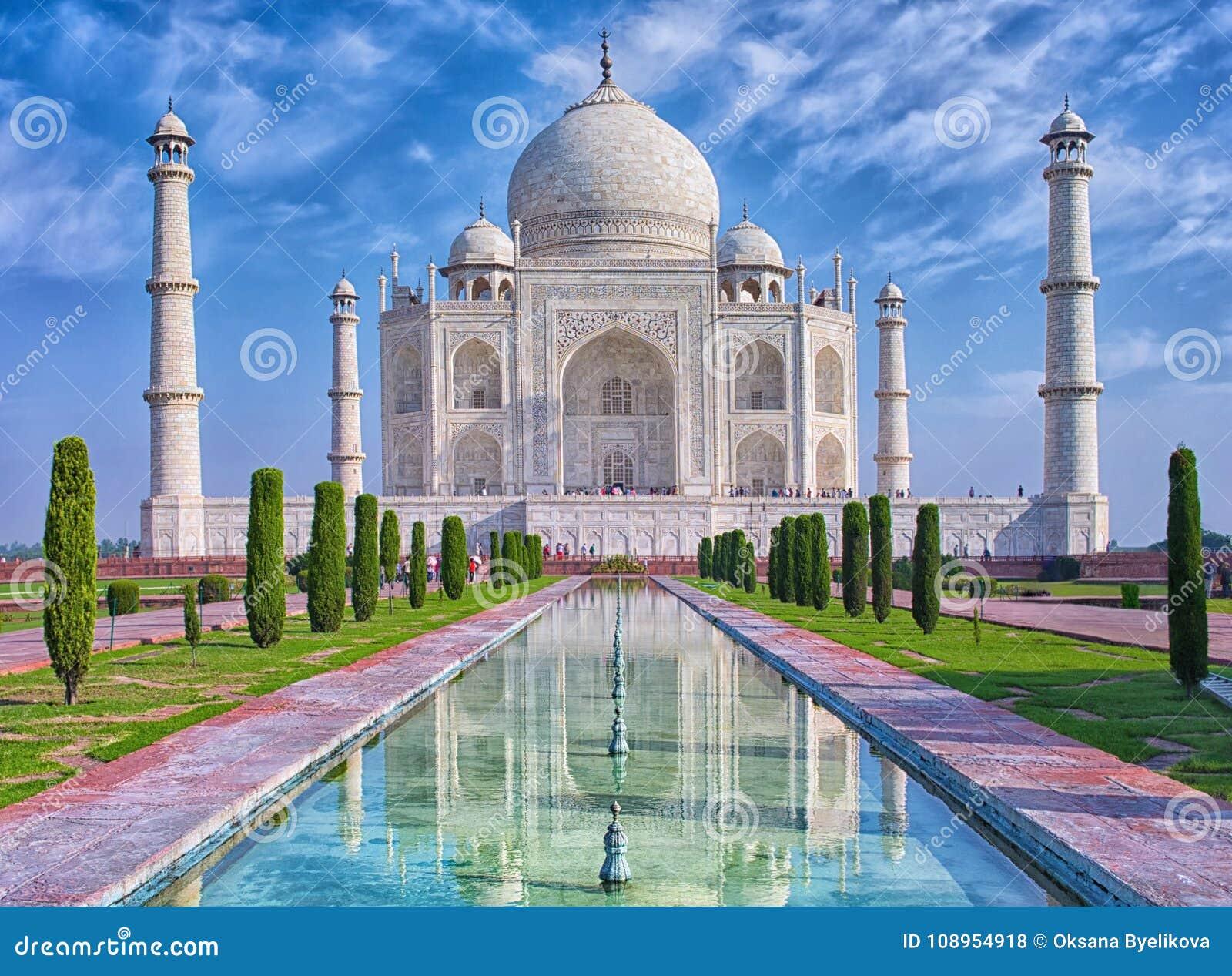 Download Taj Mahal in Agra, India stock photo. Image of religion - 108954918