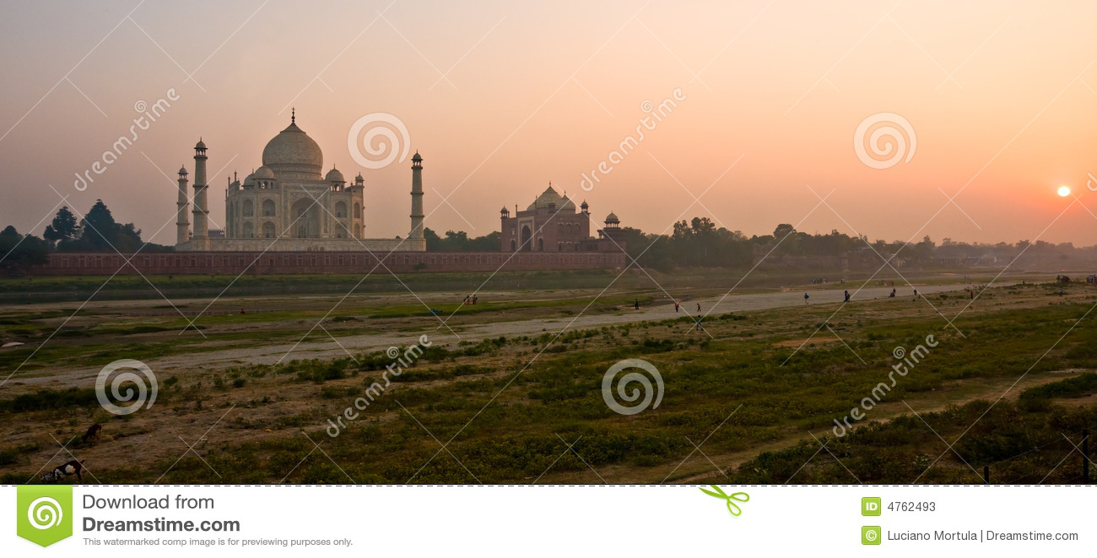 Taj Mahal au coucher du soleil, Agra, uttar pradesh, Inde.