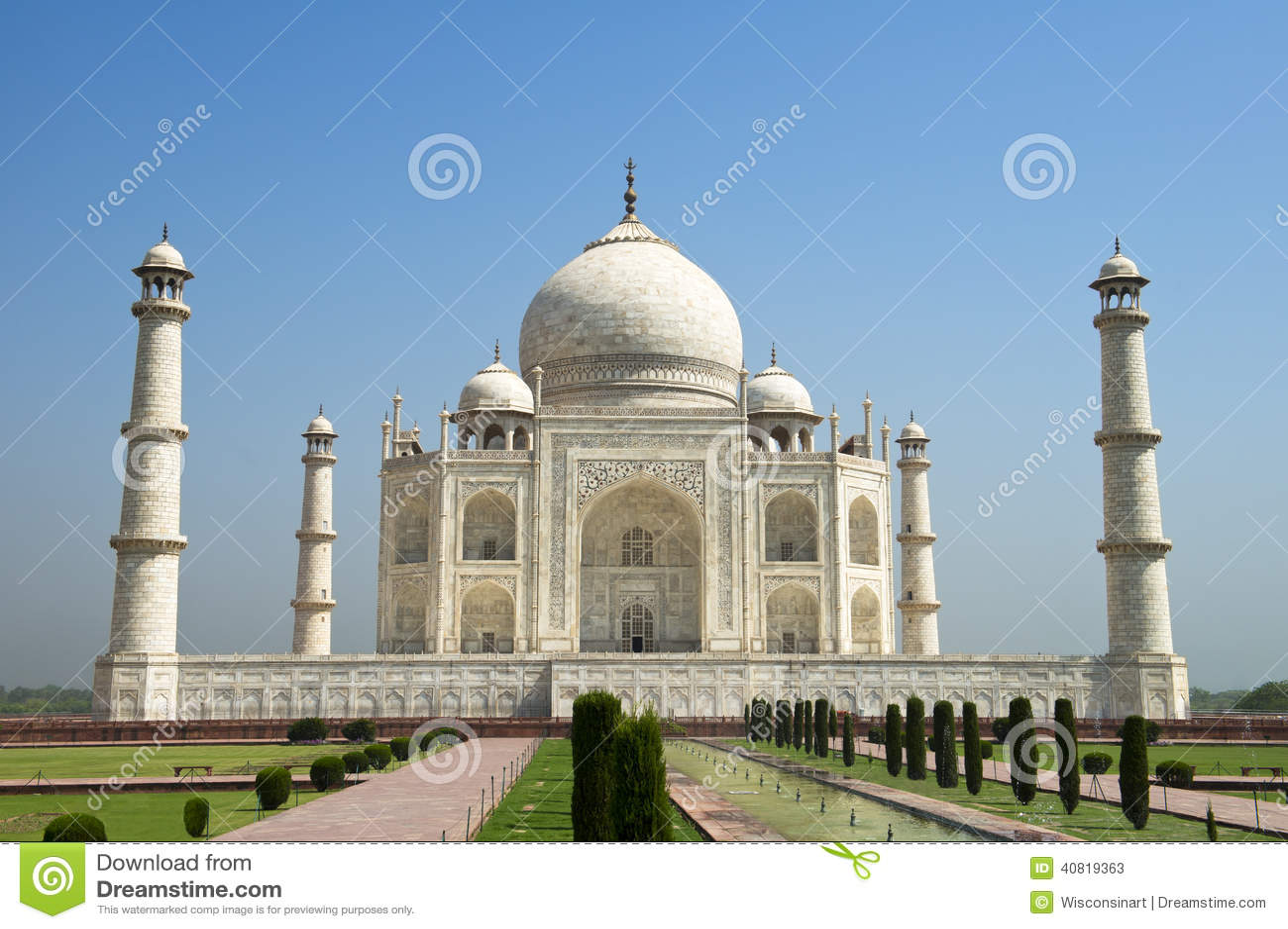 Taj Mahal Travel Agra, India, Blue Sky