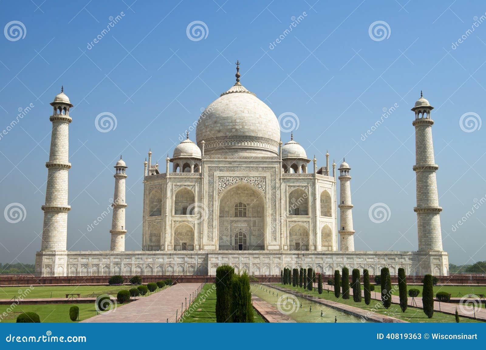 Taj Mahal Blue Sky, voyage vers Âgrâ, Inde
