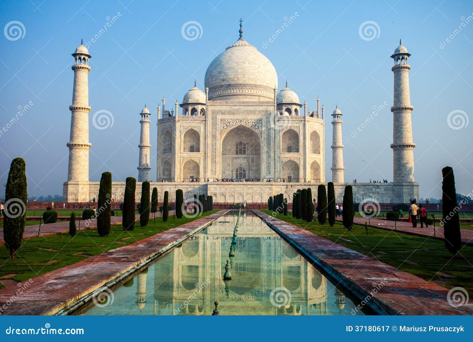 Taj Mahal , A Famous Historical Monument, A Monument Of Love