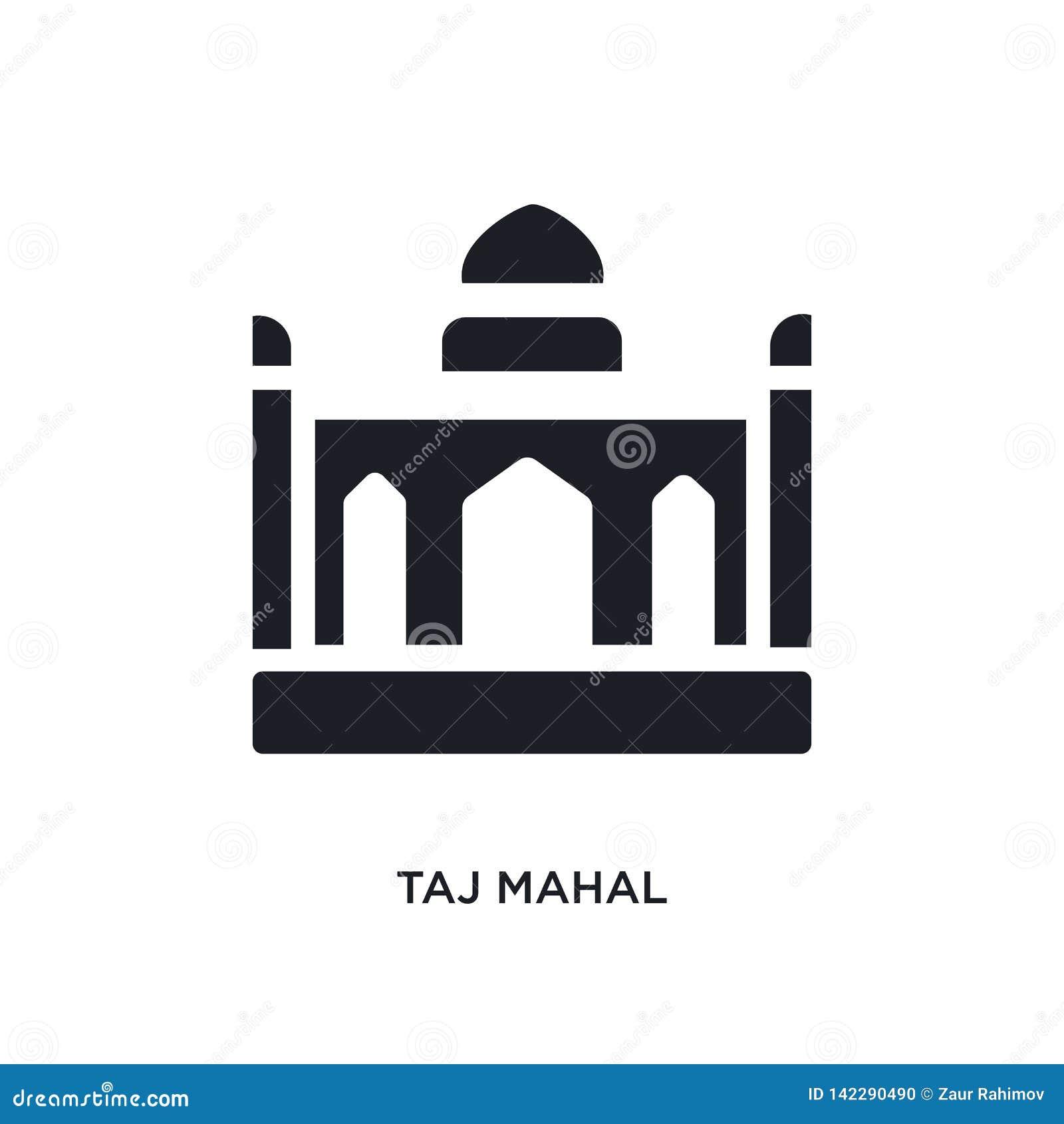 Taj mahal geïsoleerd pictogram eenvoudige elementenillustratie van het conceptenpictogrammen van India en van holi taj mahal edit
