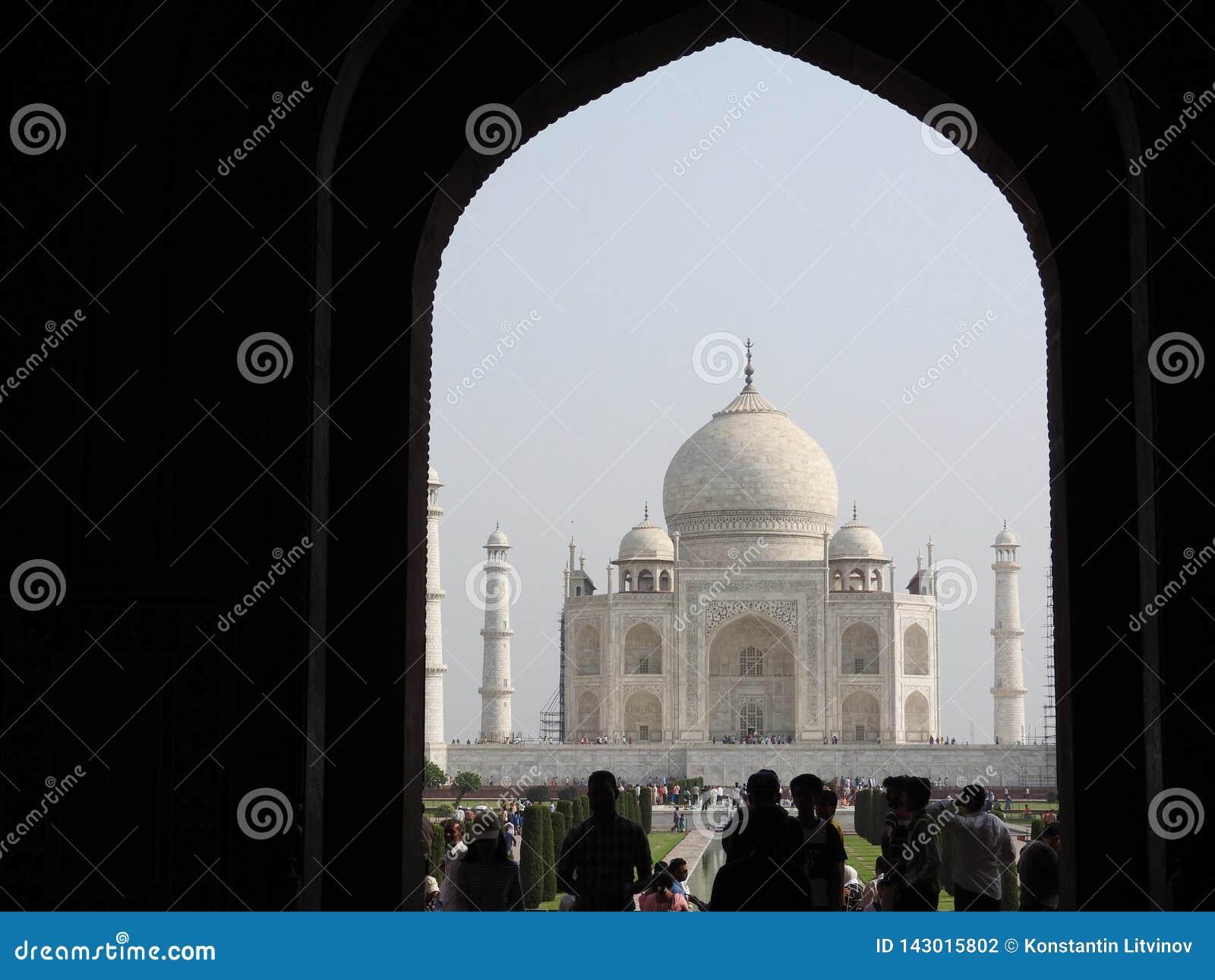Taj Mahal, Âgrâ, Inde, voûte à l entrée au mausolée