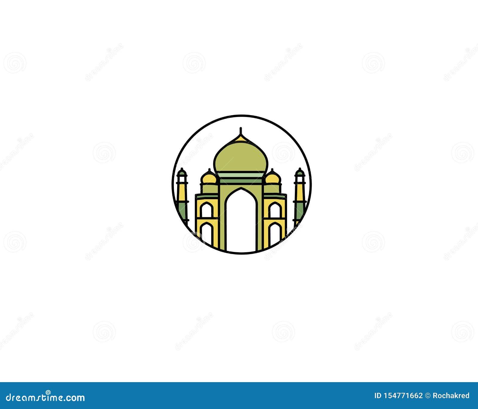 Taj Mahal Hand Drawn, India Agra