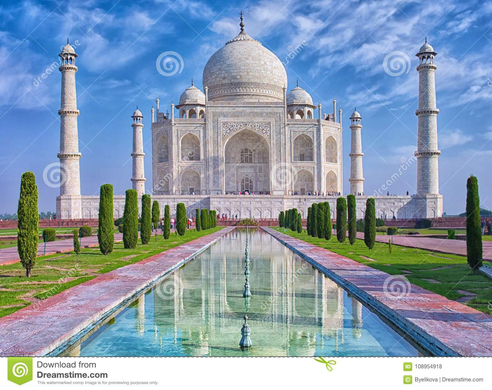 Taj Mahal i Agra, Indien