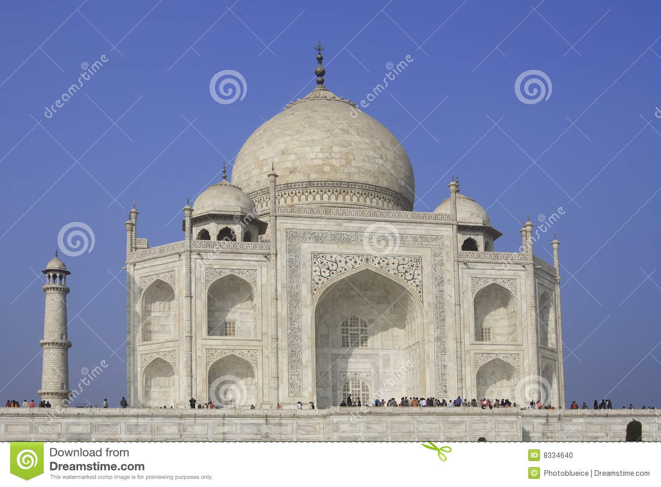 Taj mahal stock photo image 8334640 for Taj mahal exterior design