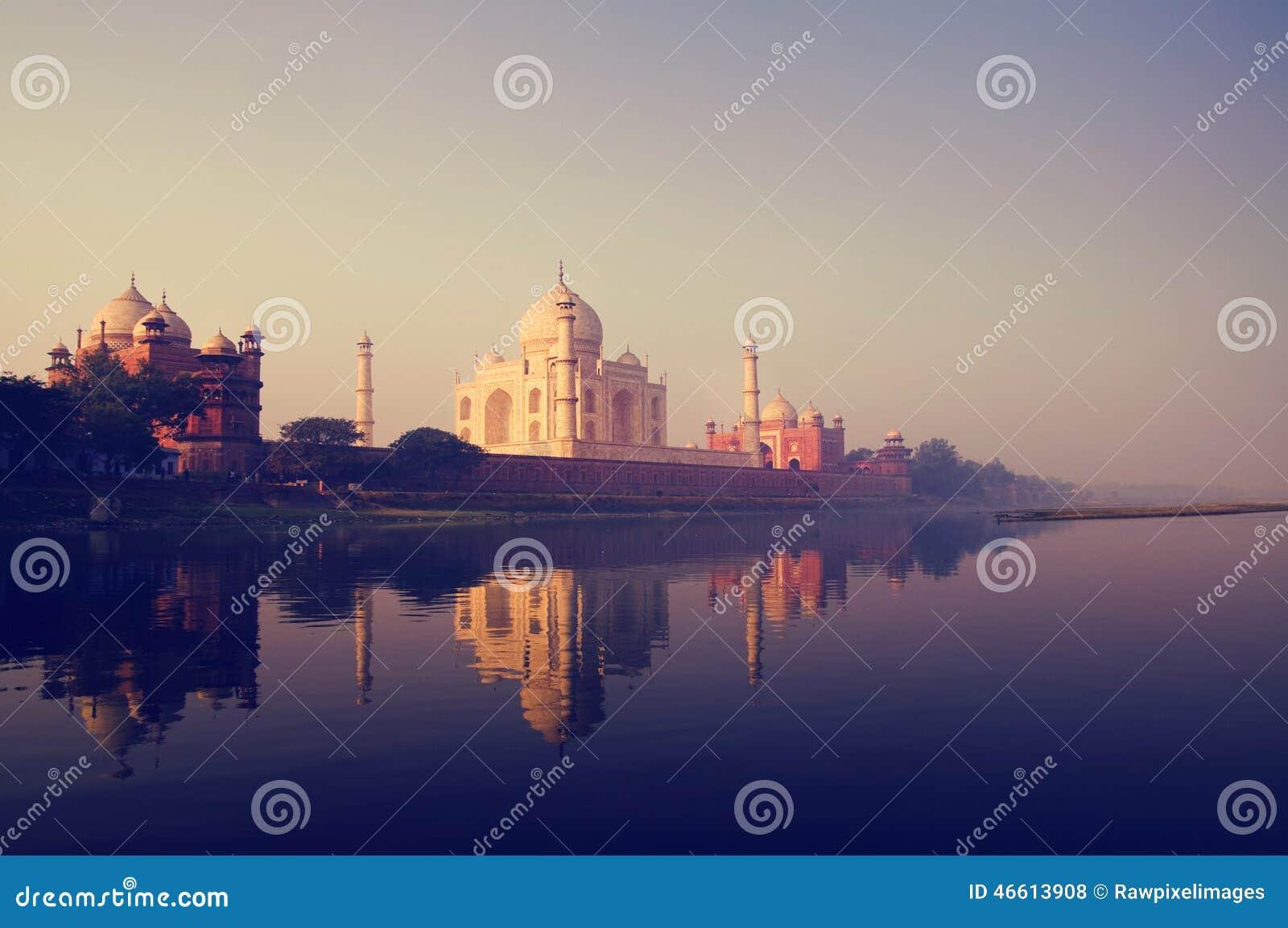 Taj Mahal India Seven Wonders-Concept