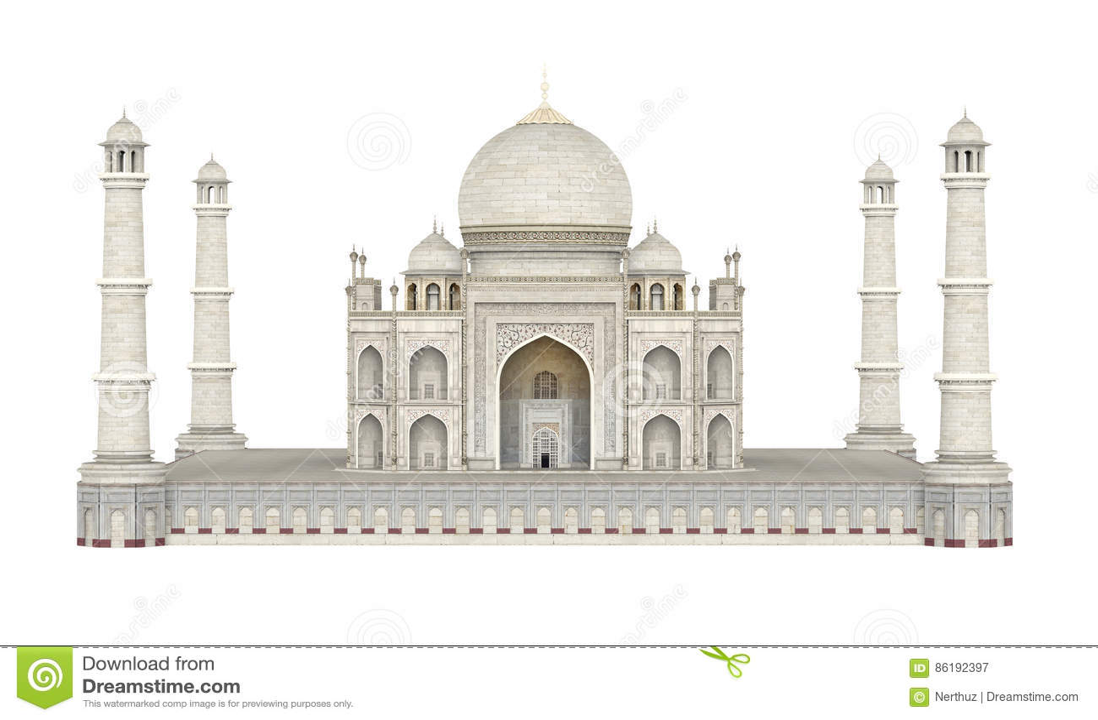 Taj Mahal Isolated