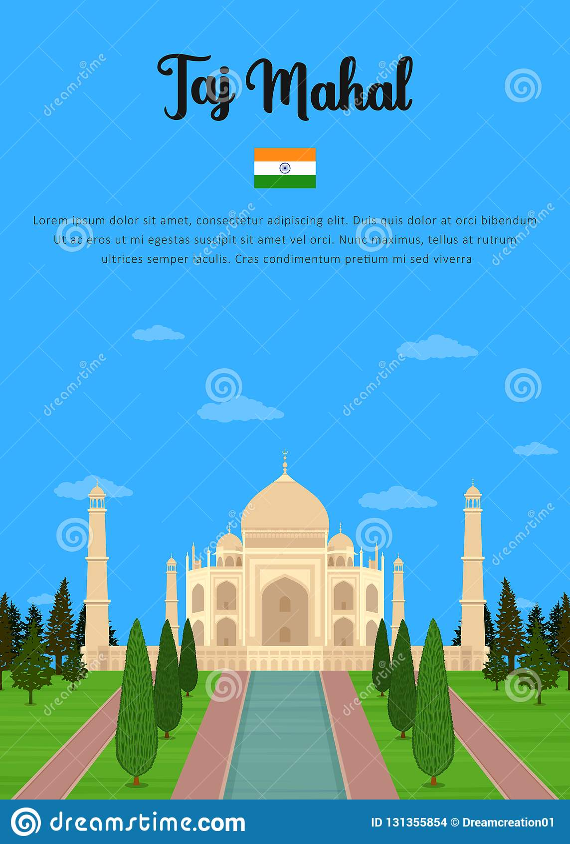 Taj Mahal-mausoleum in Agra