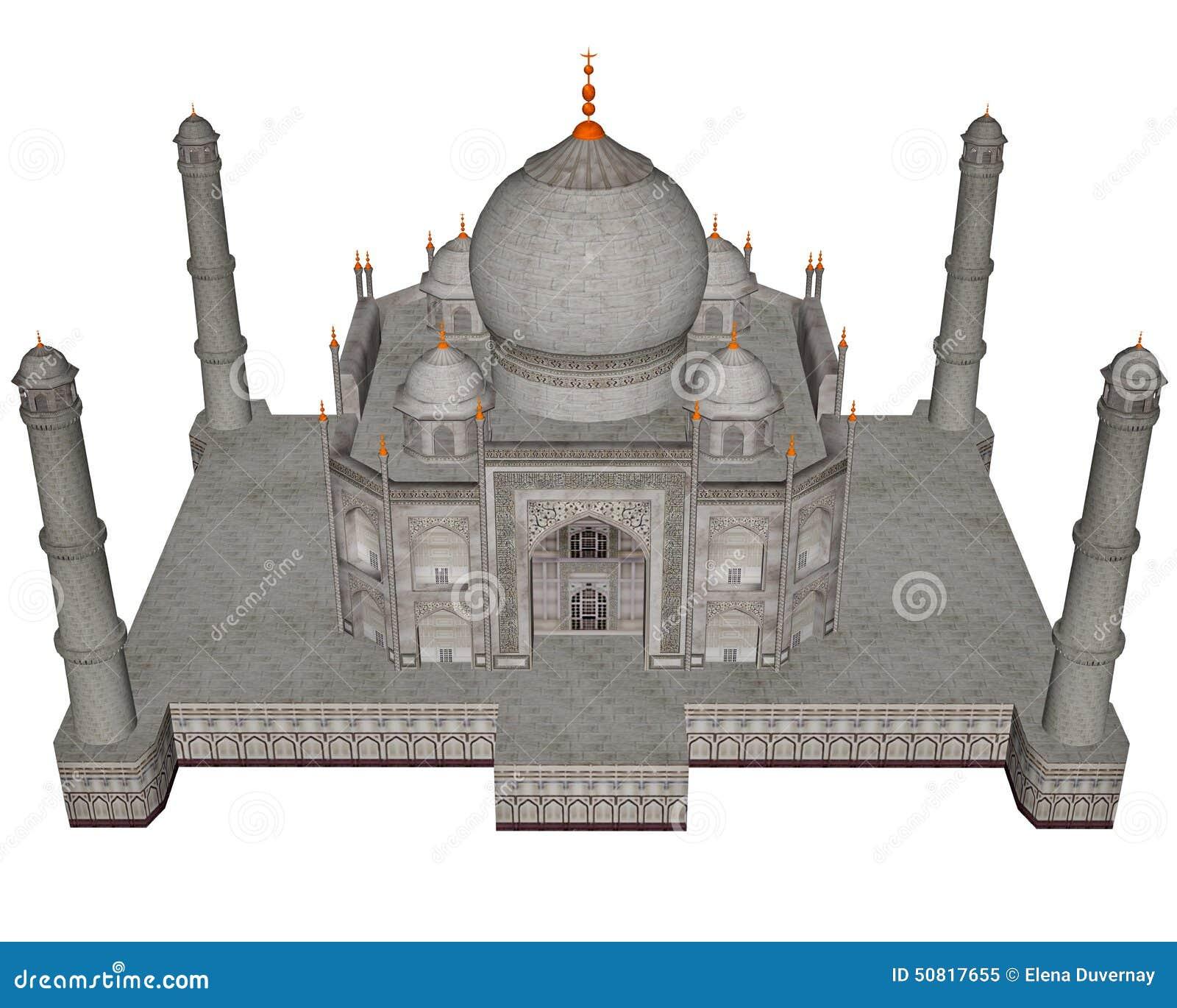 Taj Mahal mausoleum - 3D framför