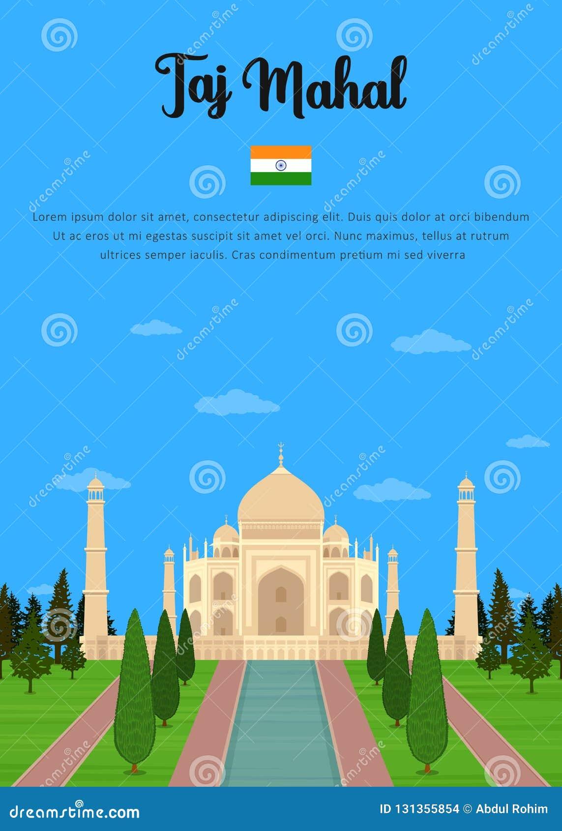 Taj Mahal mausoleum i Agra