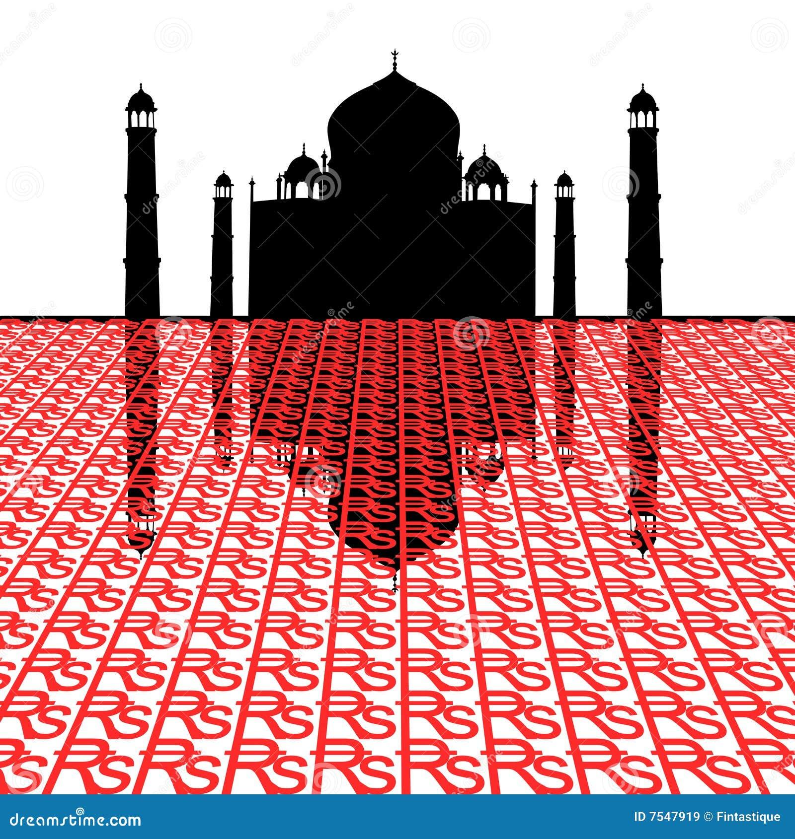 Taj Mahal met Roepies
