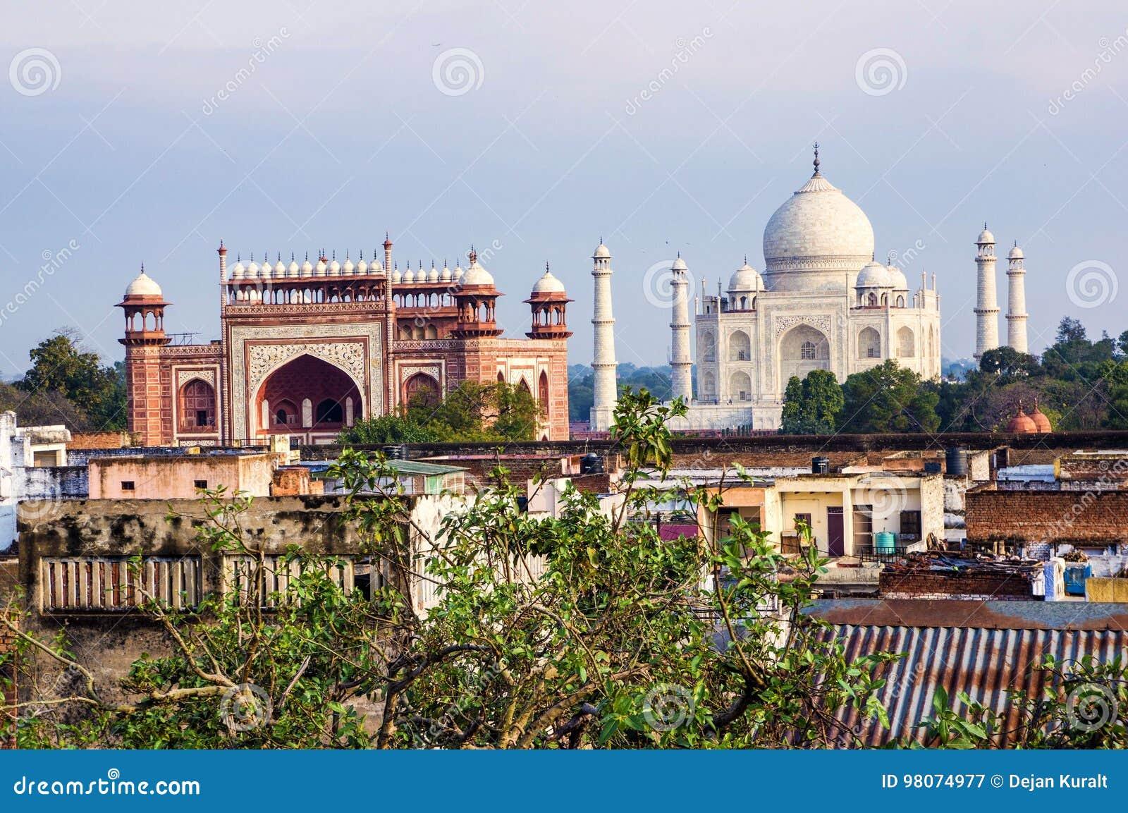 Taj Mahal och Agra