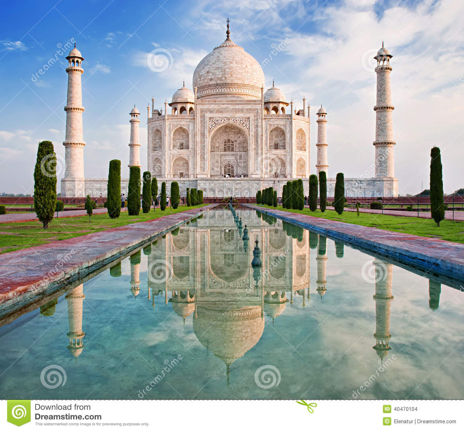 Taj Mahal In Sunrise Light Stock Photo Image 40470104