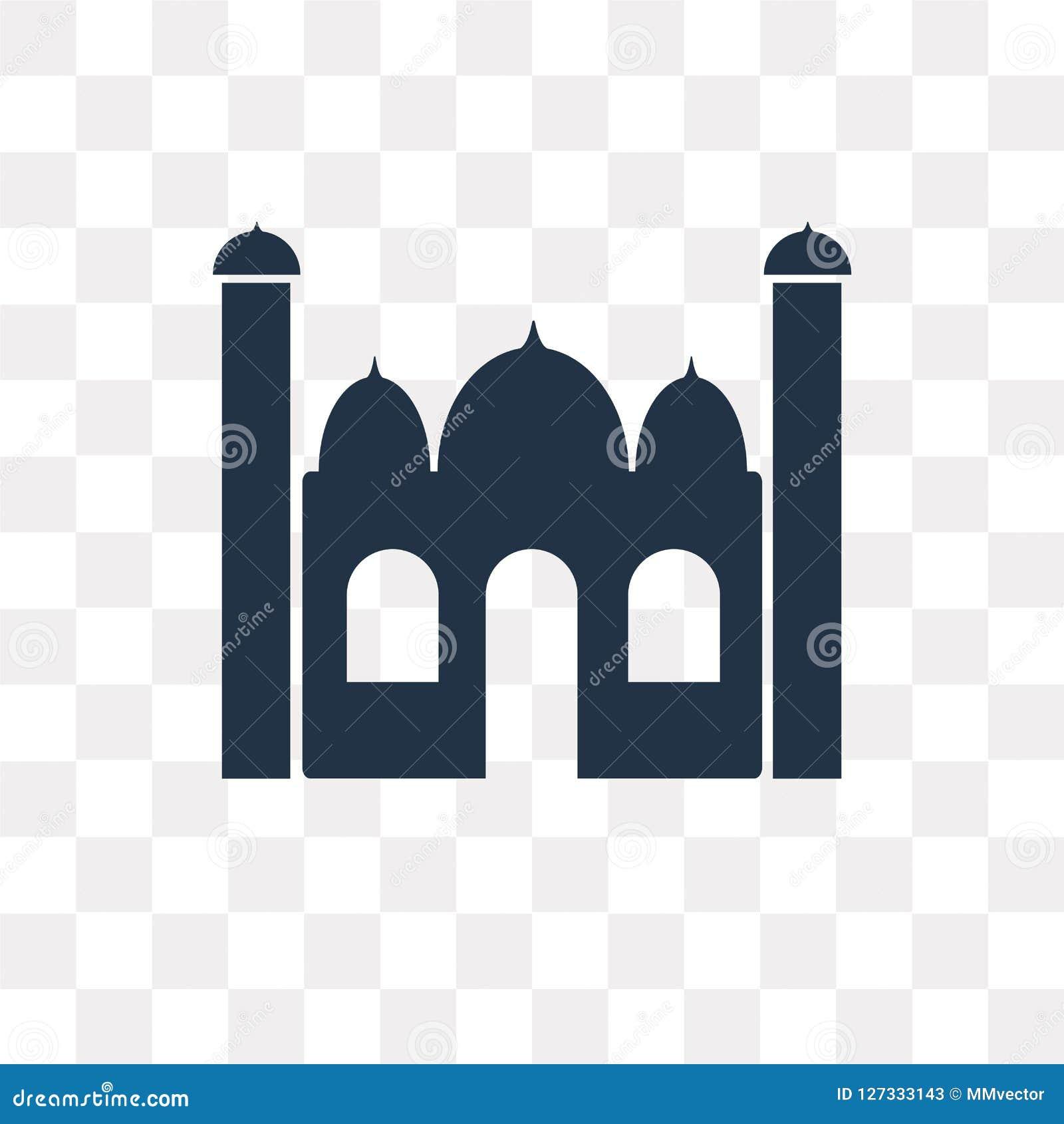Taj mahal vektorsymbol som isoleras på genomskinlig bakgrund, Taj mor