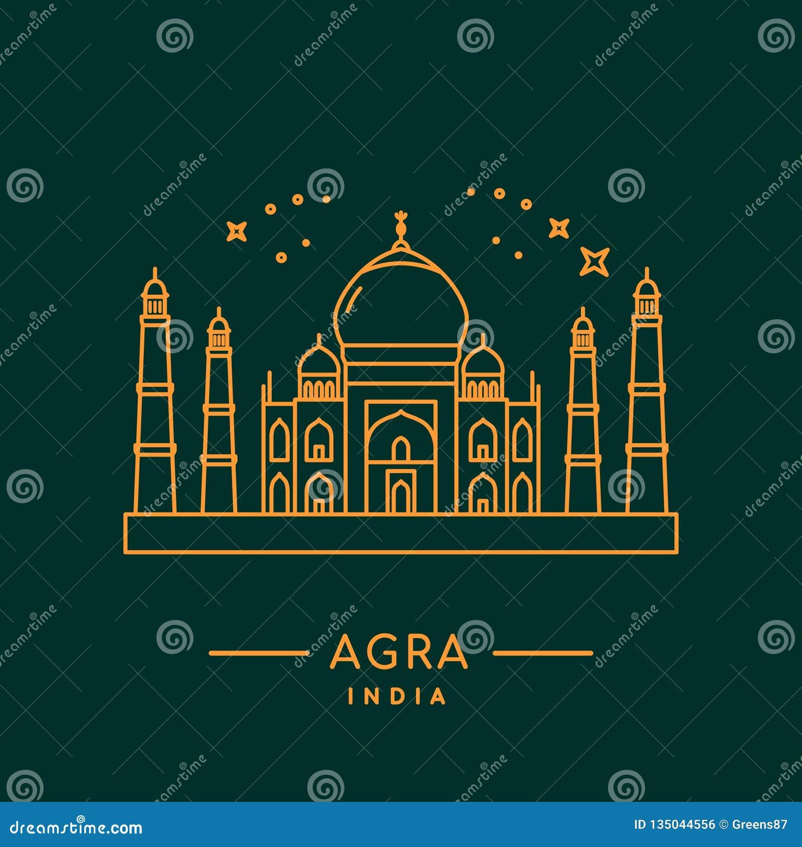 Taj Mahal Vetora Illustration