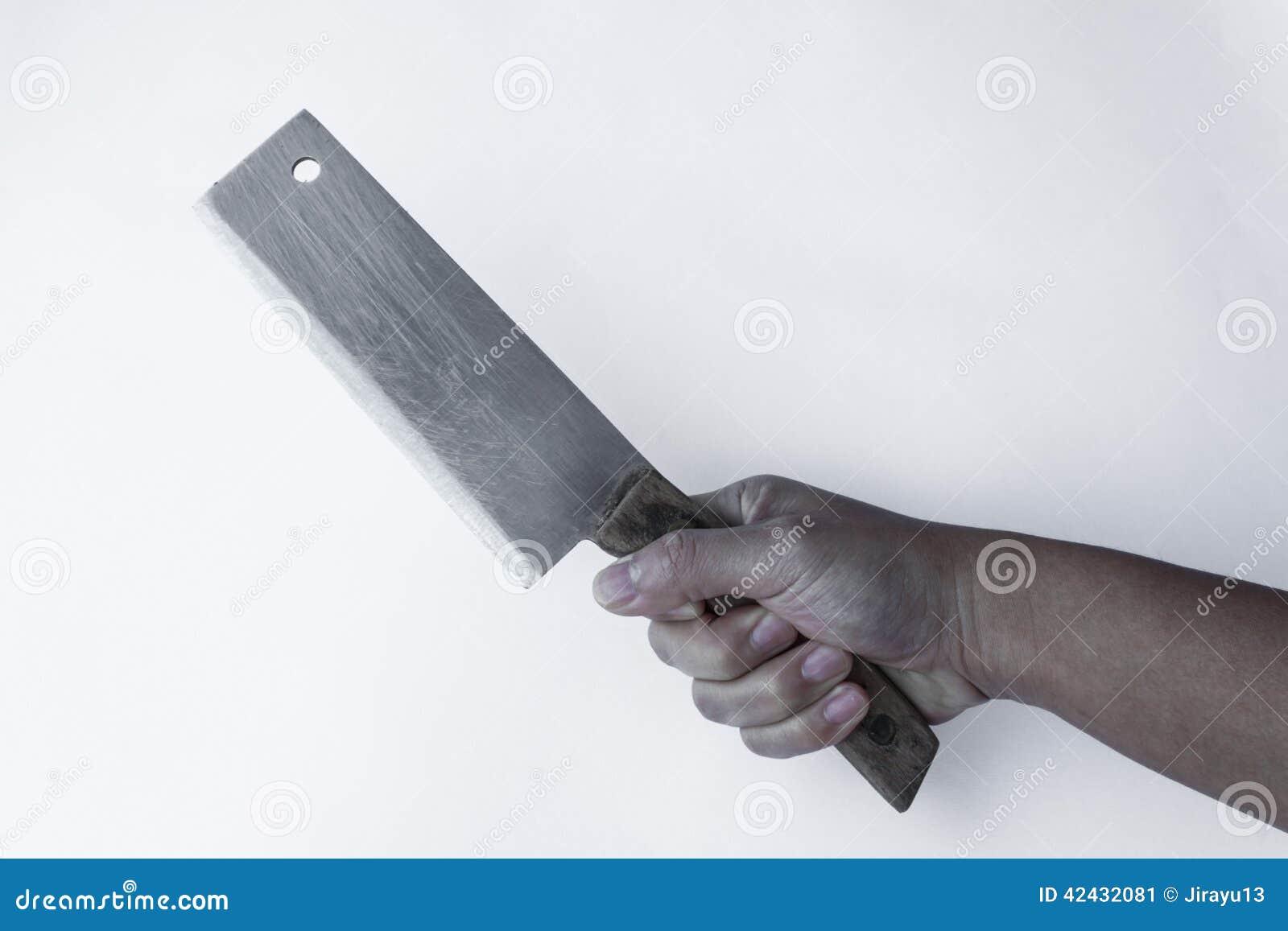 Tajando el cuchillo disponible