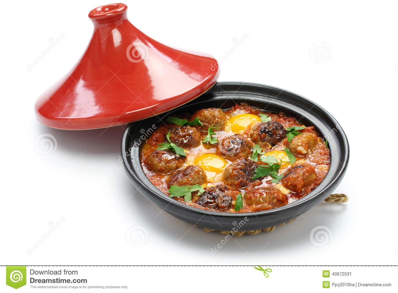tajine de kofta tagine de kefta cuisine marocaine photo stock image 40672531. Black Bedroom Furniture Sets. Home Design Ideas