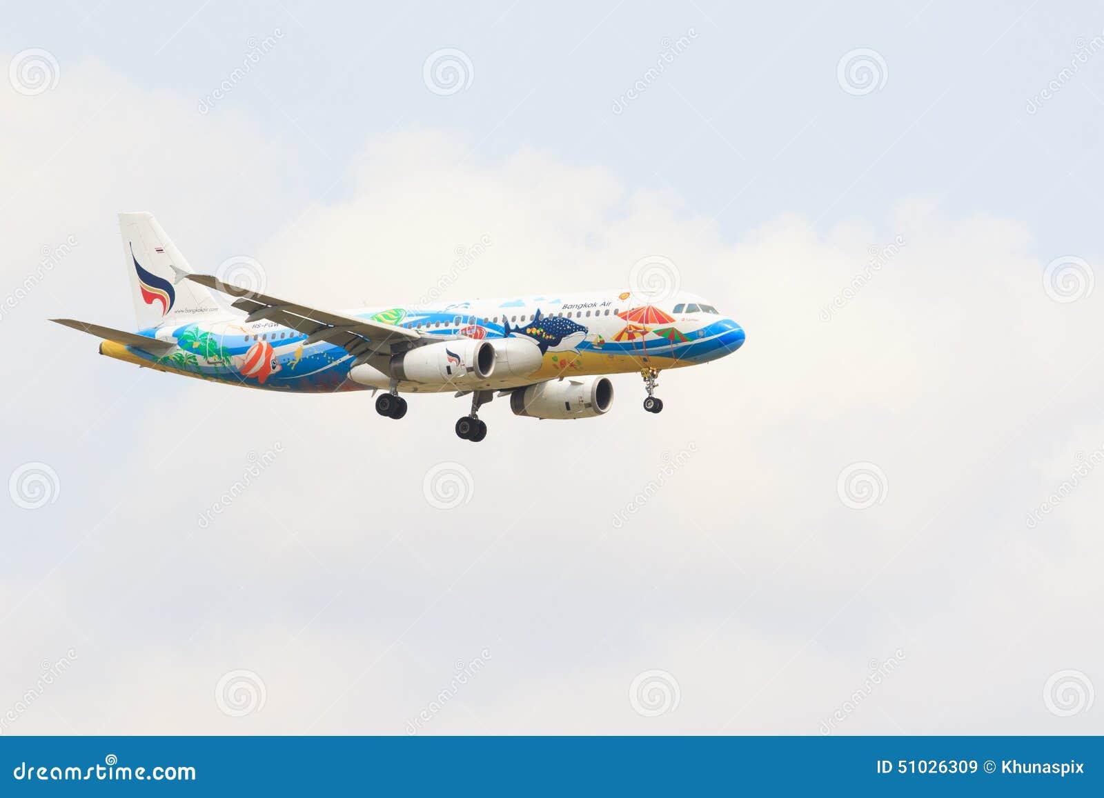 TAJLANDIA, BANGKOK-MAR 3: Bangkok linii lotniczych samolotu lotnicza tajlandzka lokalna komarnica