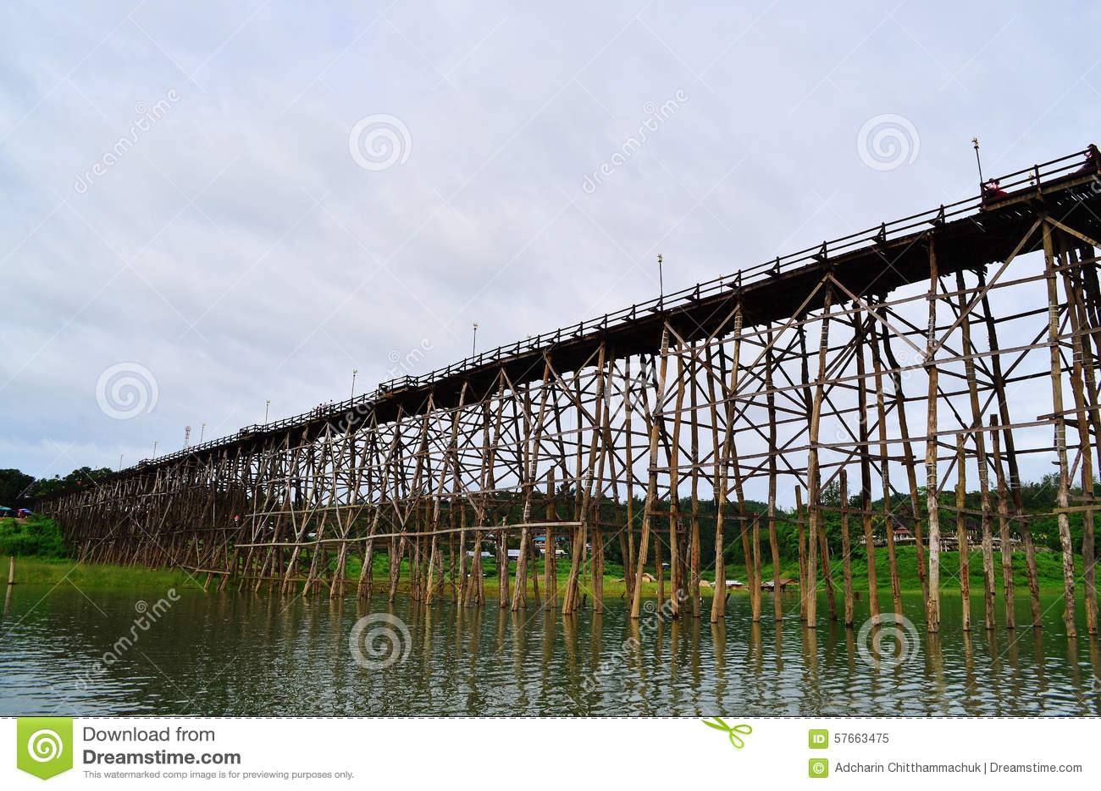 Tajlandia długi drewniany most