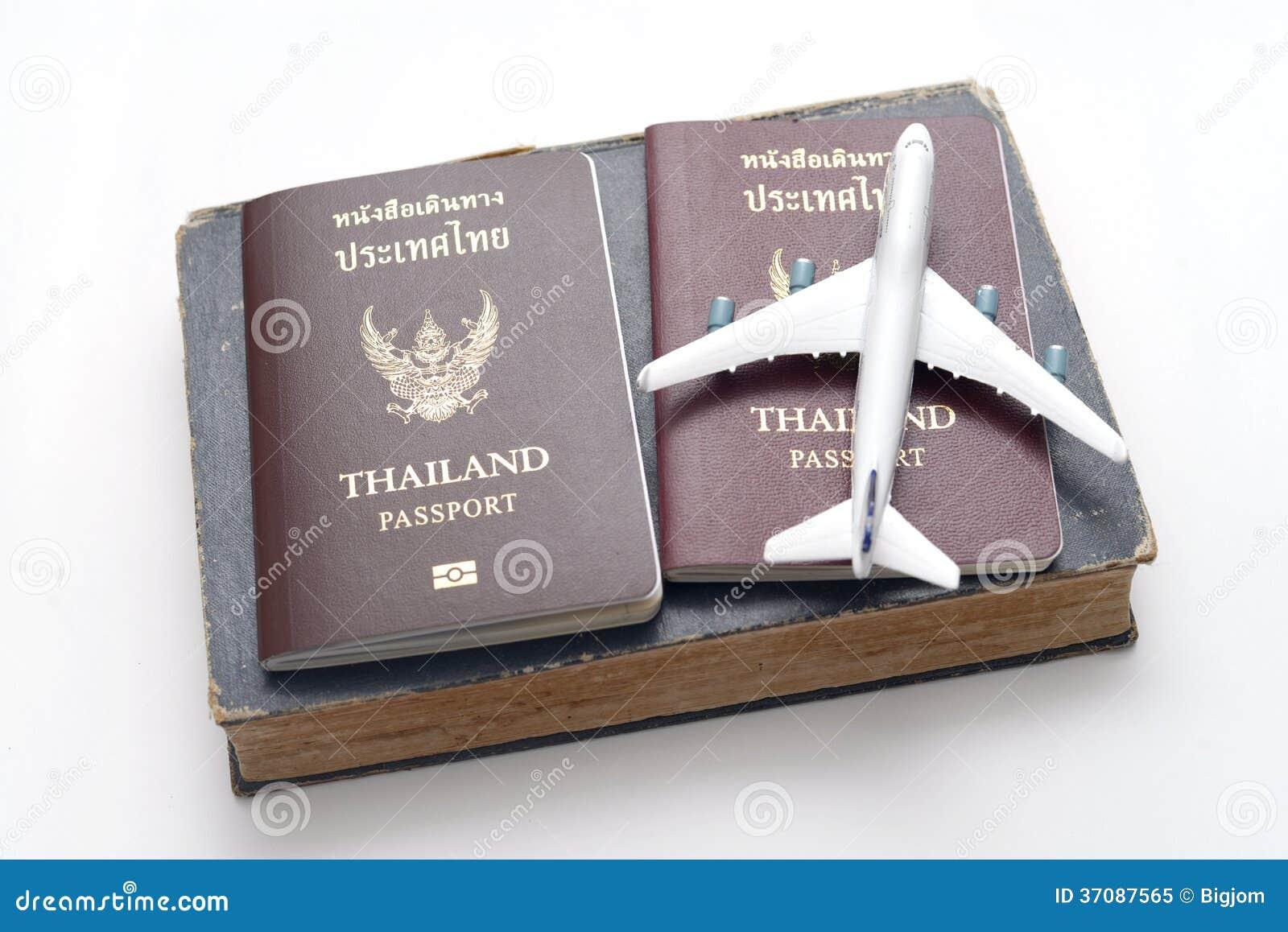 Download Tajlandia paszport obraz stock. Obraz złożonej z international - 37087565