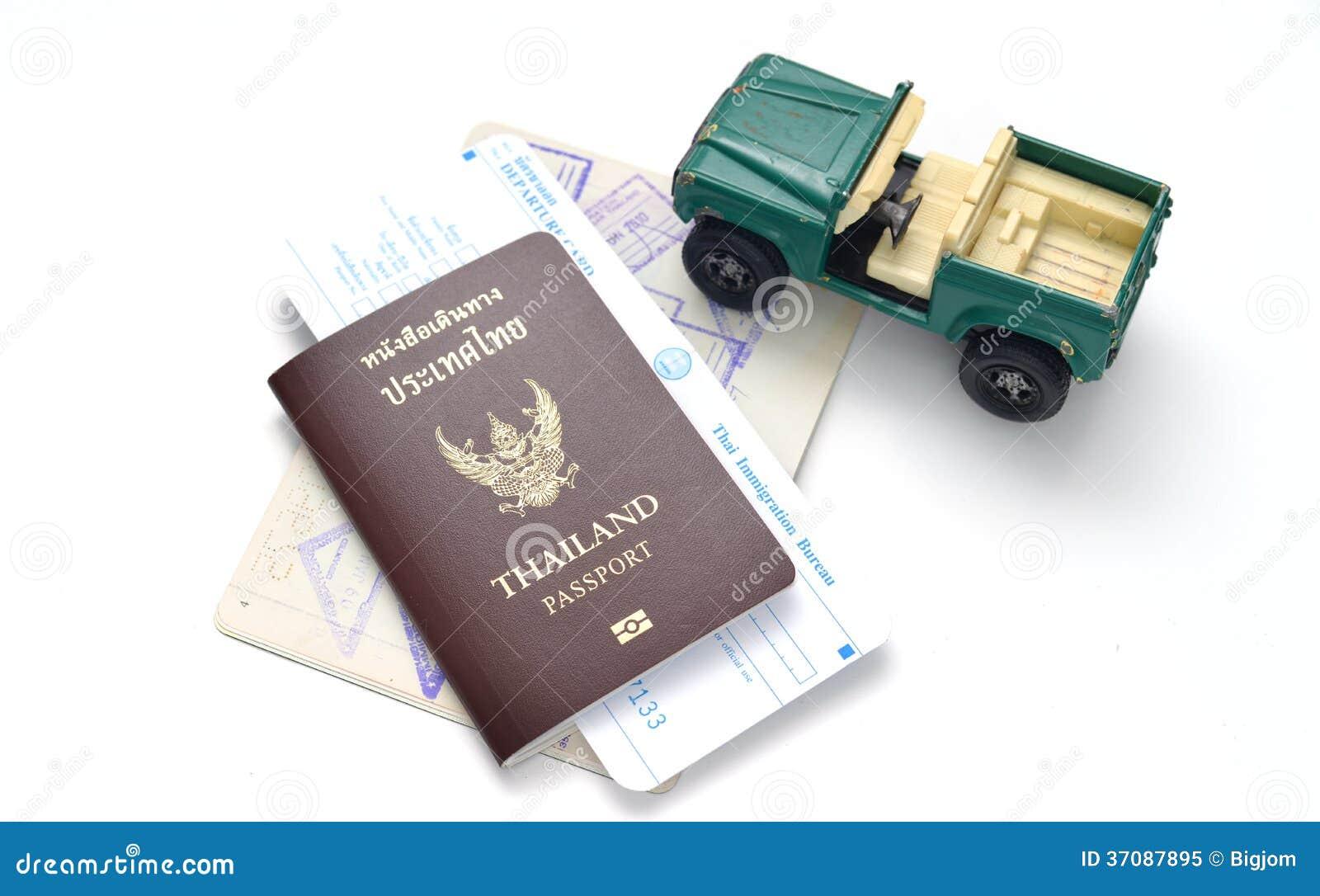 Download Tajlandia paszport obraz stock. Obraz złożonej z imigracje - 37087895