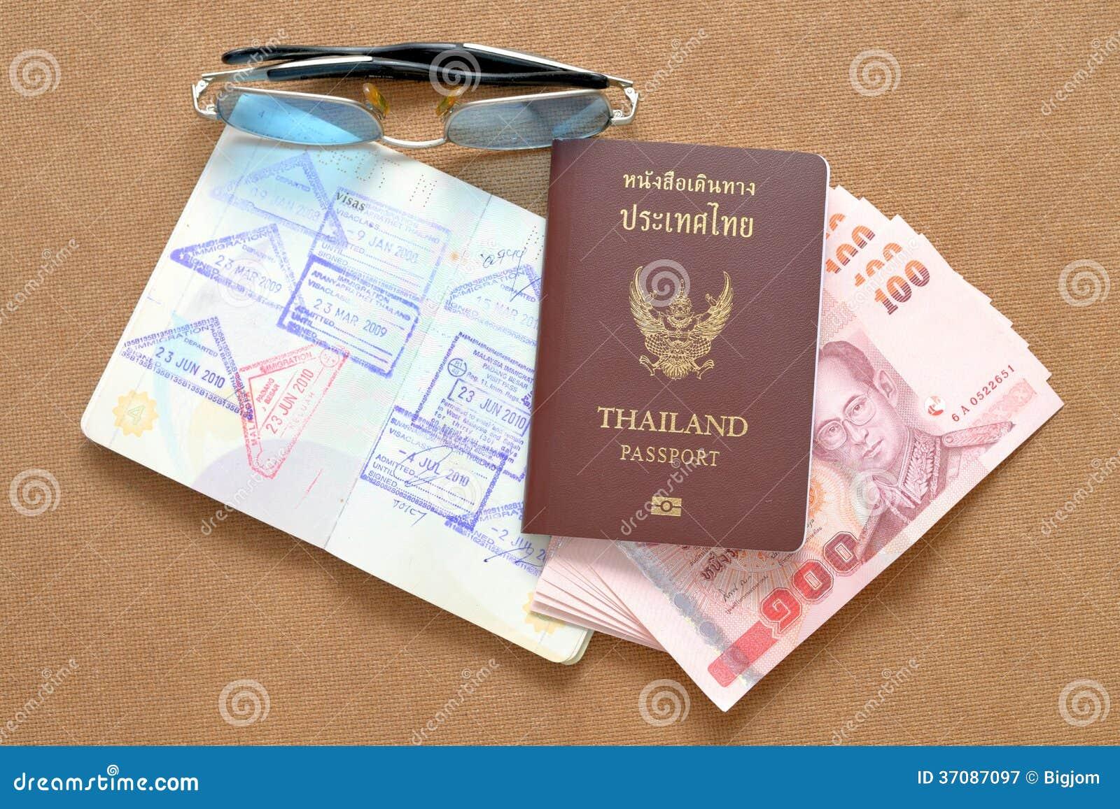 Download Tajlandia Paszport I Tajlandzki Pieniądze Obraz Stock - Obraz złożonej z autoryzacja, biznes: 37087097