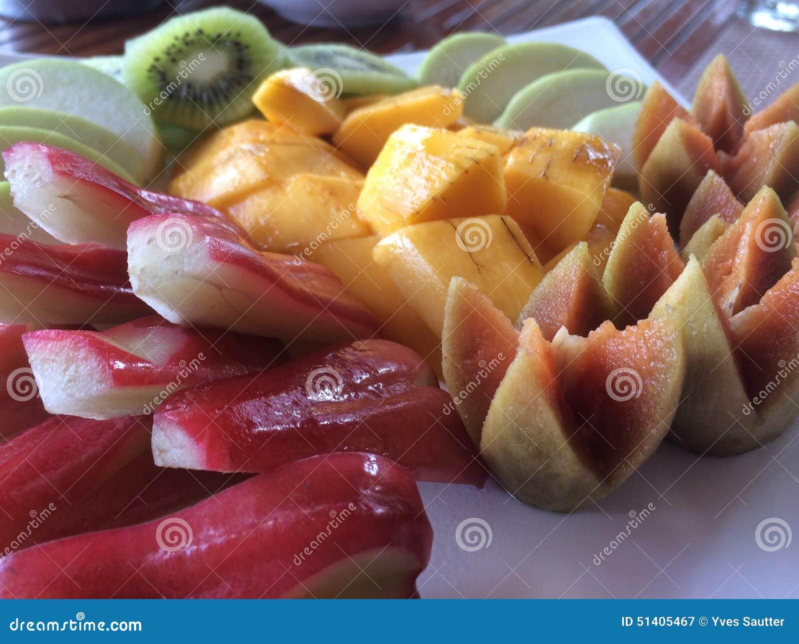 Tajlandzka owoc Tupocze, śniadanie