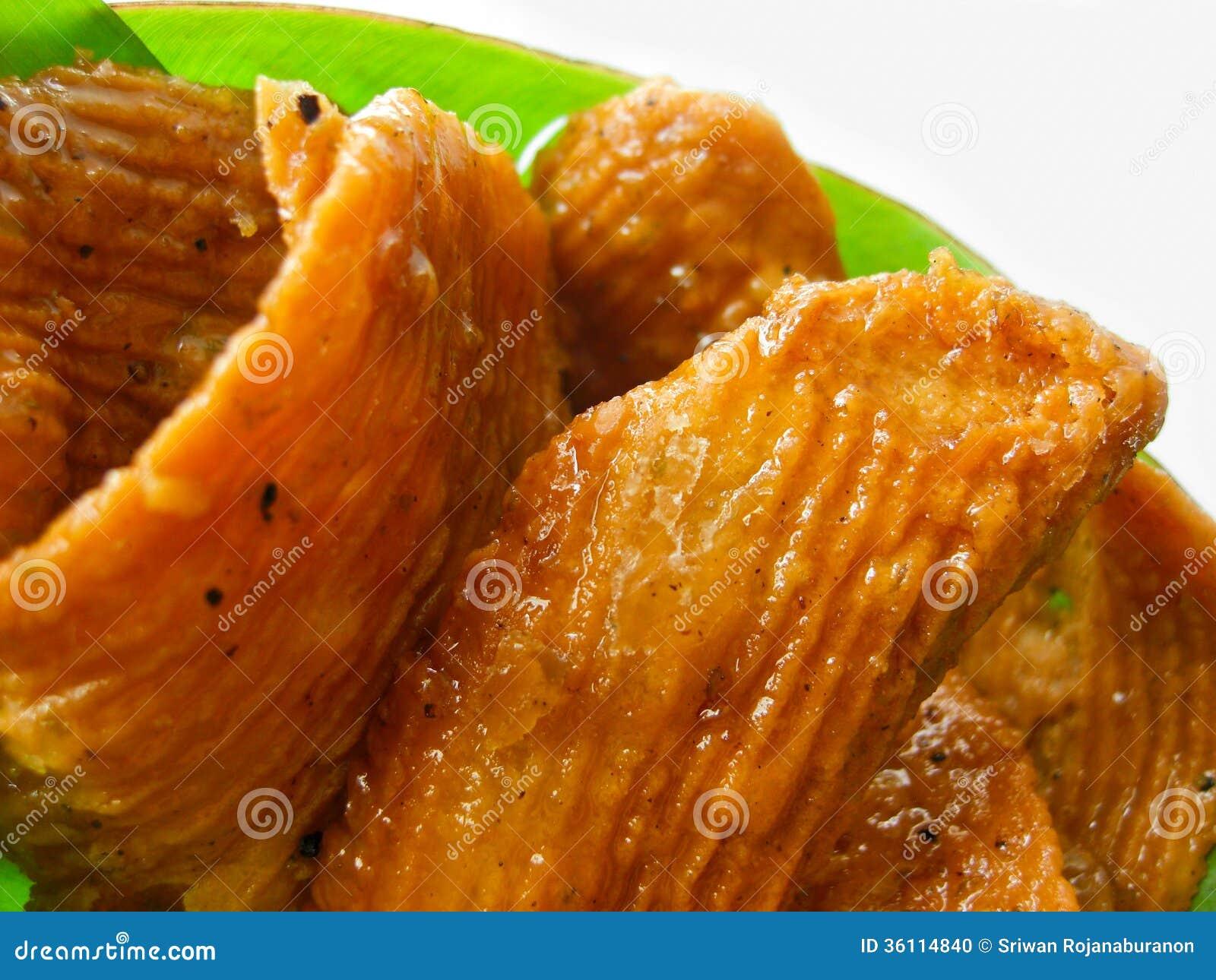 Tajlandzki deser dzwonił krob-kem lub karmel crispy ciasto