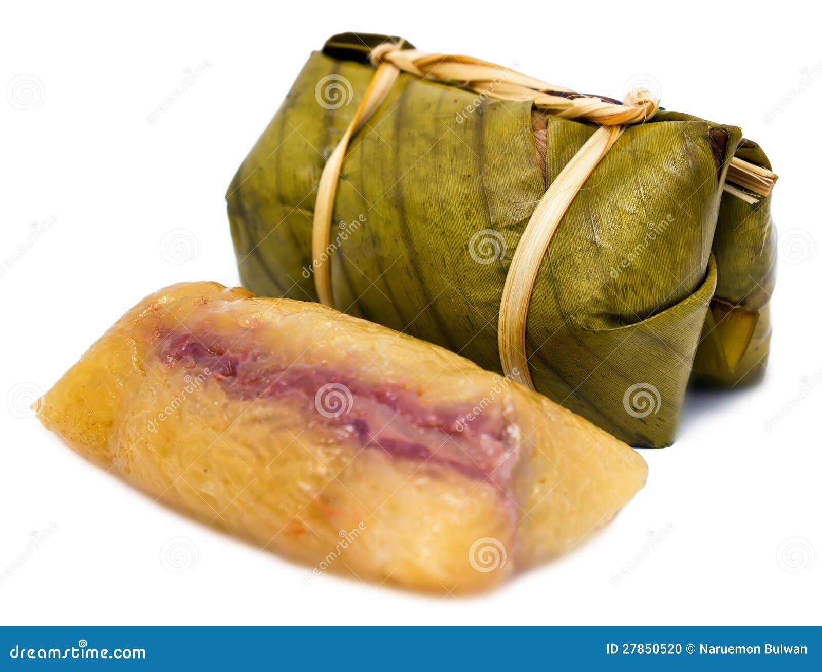 Tajlandzki deser nazwany Khao Tom Szalenie