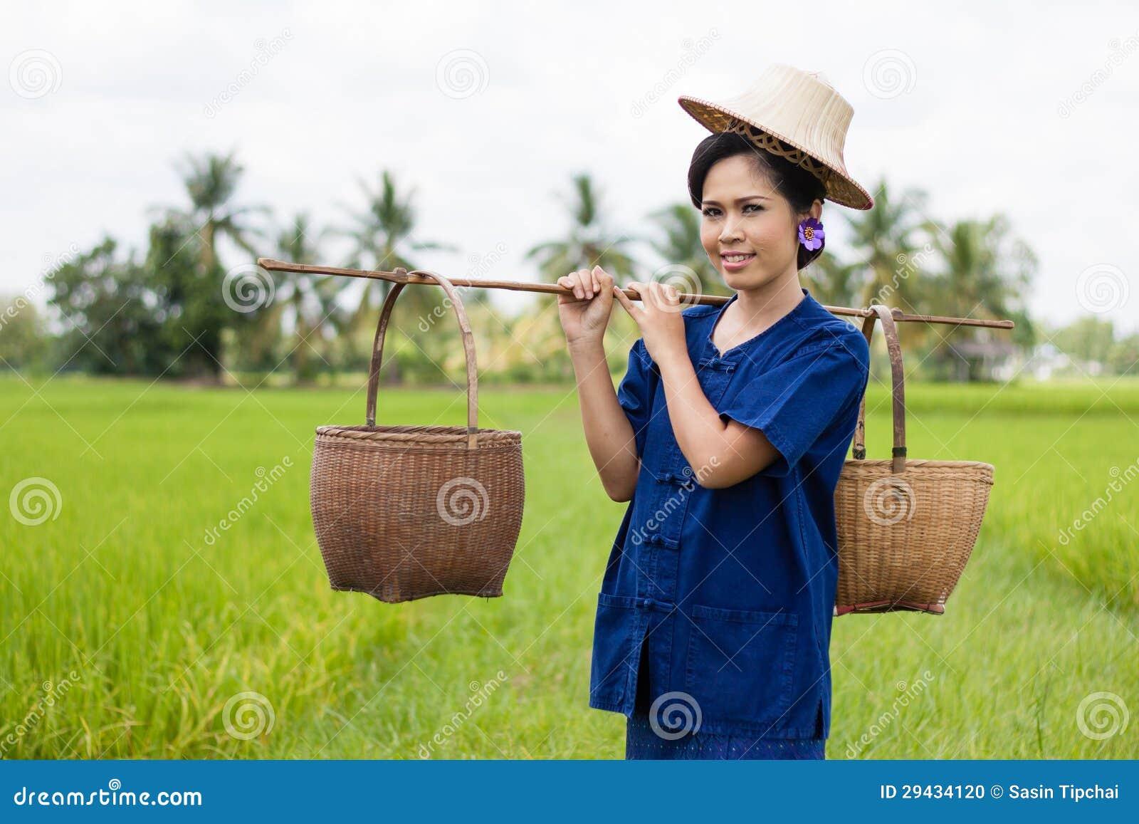 Tajlandzki kobieta rolnik