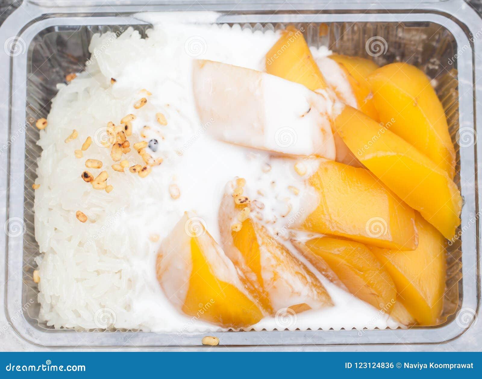 Tajlandzki Słodki Kleisty Rice z mango