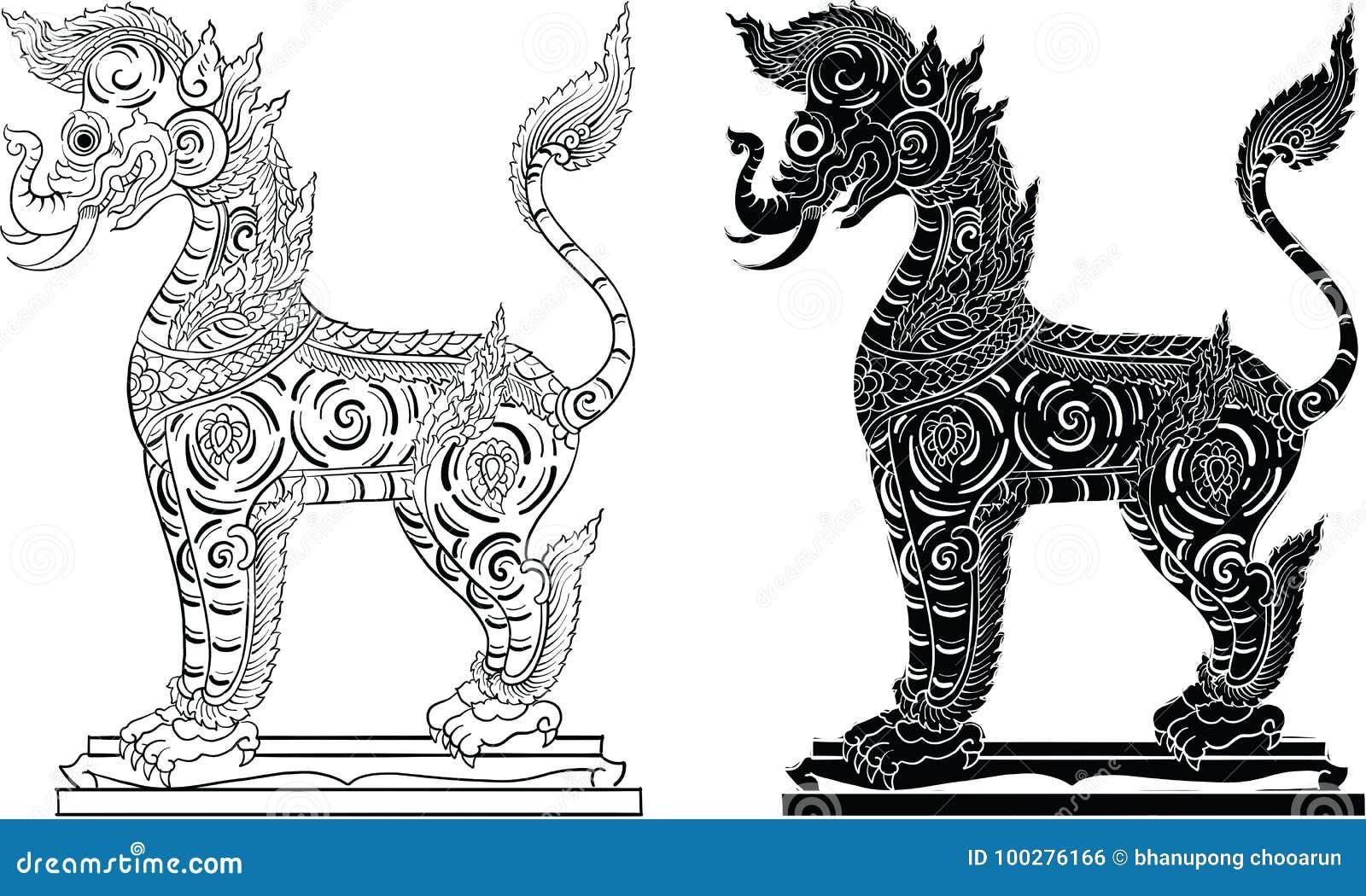 Tajlandzki tradycyjny obraz, tatuaż