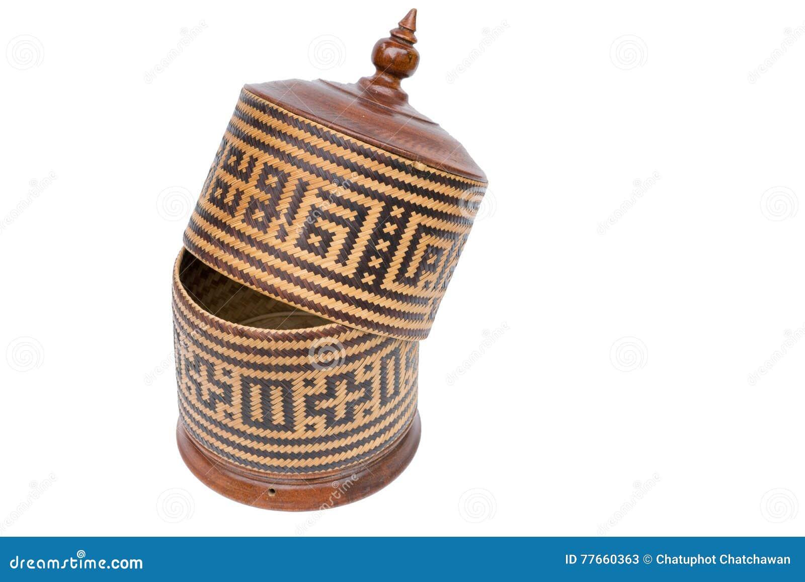Tajlandzki tradycyjny ryżu pudełko nazwany Kratib,