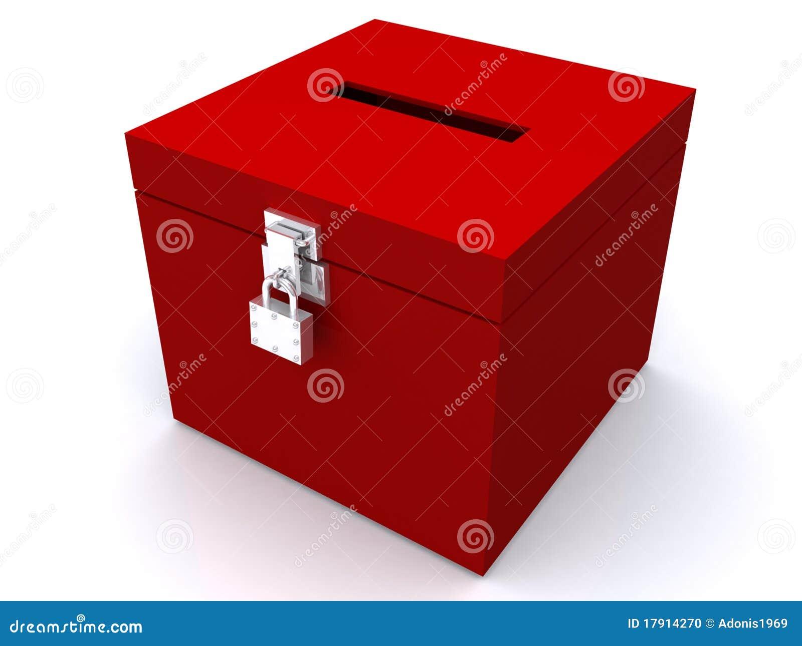 Tajnego głosowania pudełka kędziorka czerwień