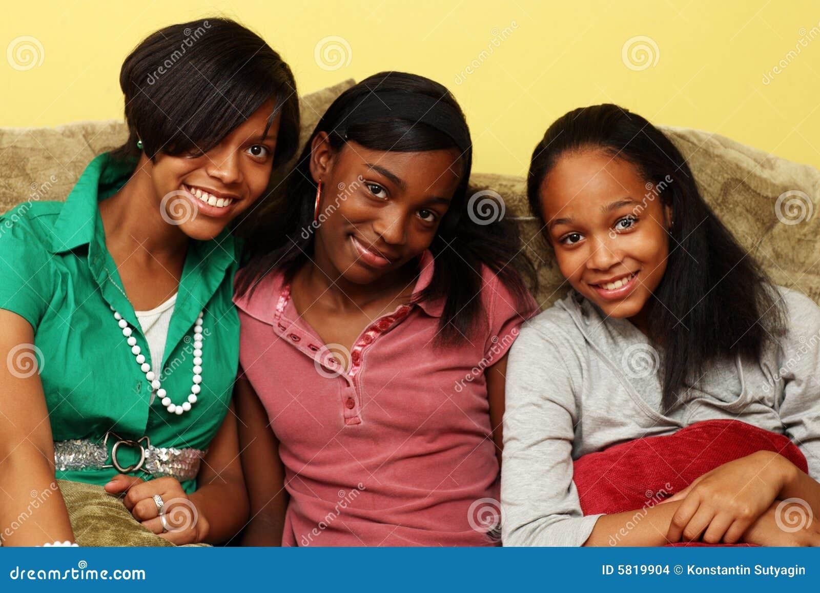 Tak, afroamerykanin nastoletnie siostry