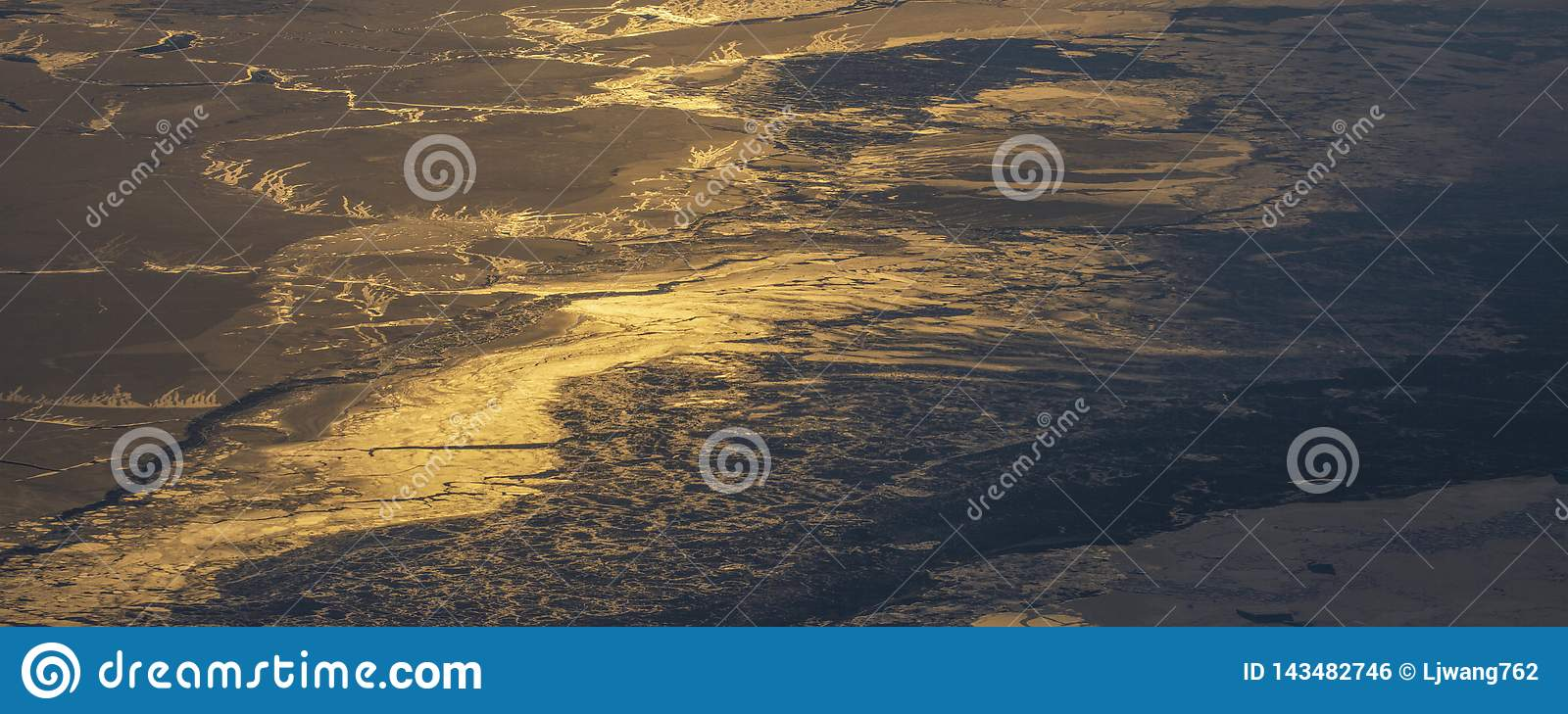 19Take an aerial view of the ice and sunrise over the bering strait.(1)
