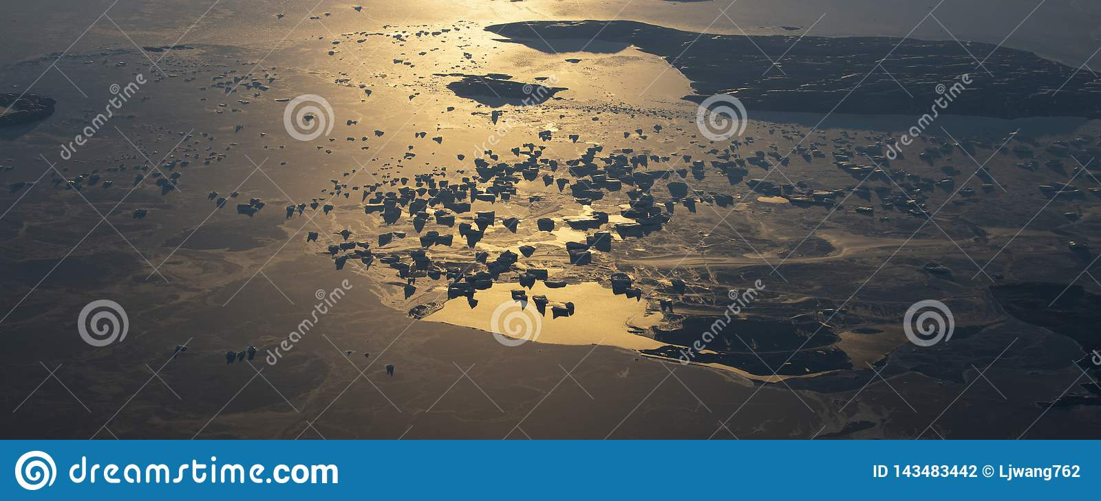 20Take an aerial view of the ice and sunrise over the bering strait.(1)