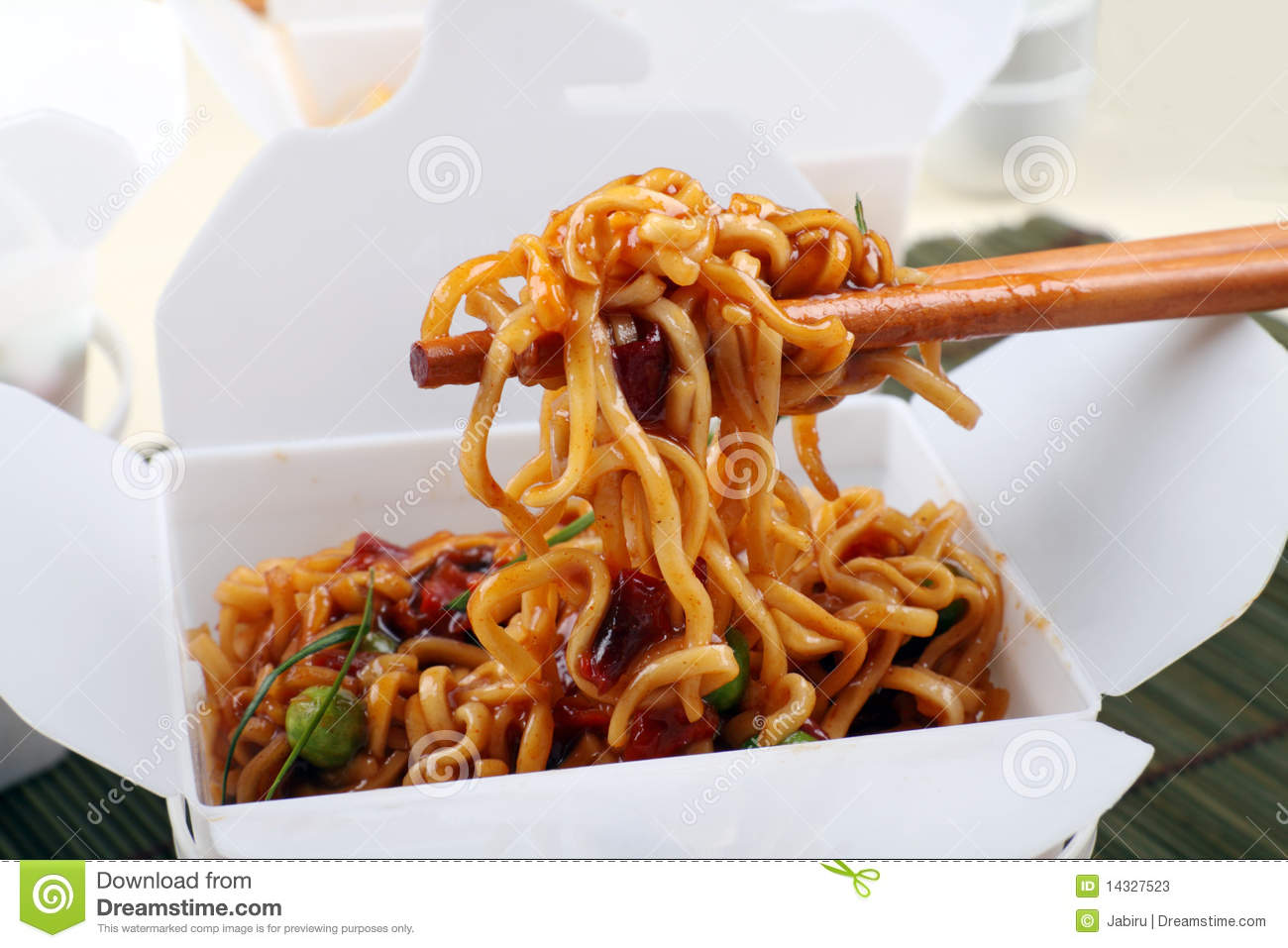 Take Away Bbq Noodles Stock Photos Image 14327523