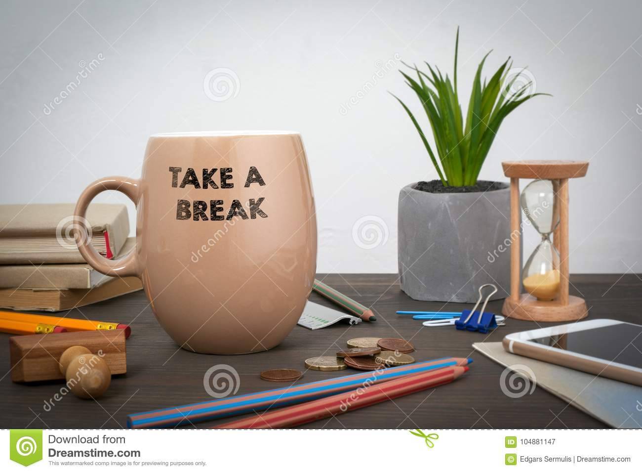 Take a break. Business and a success background